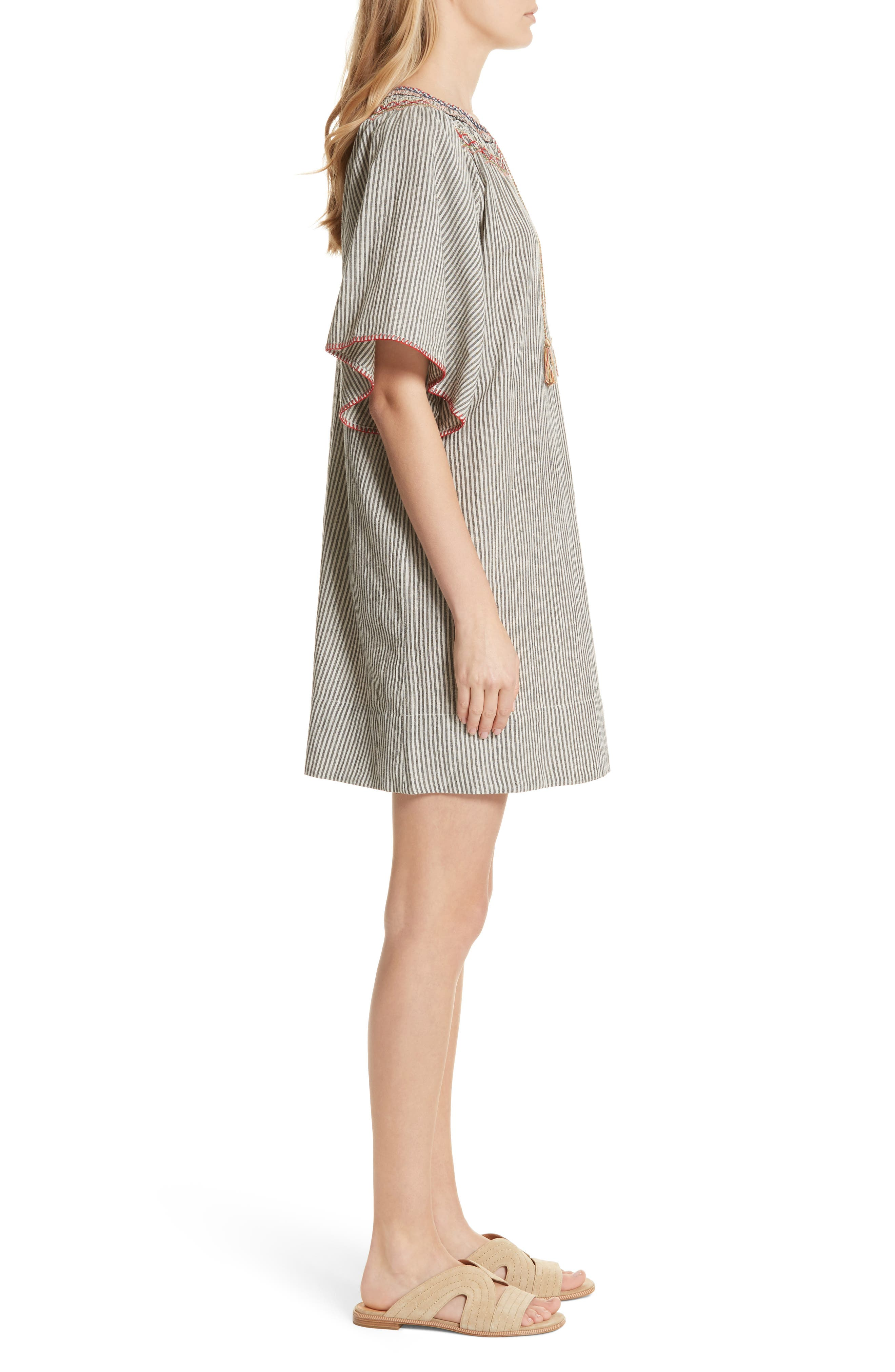The Butterfly Smock Dress,                             Alternate thumbnail 3, color,                             400