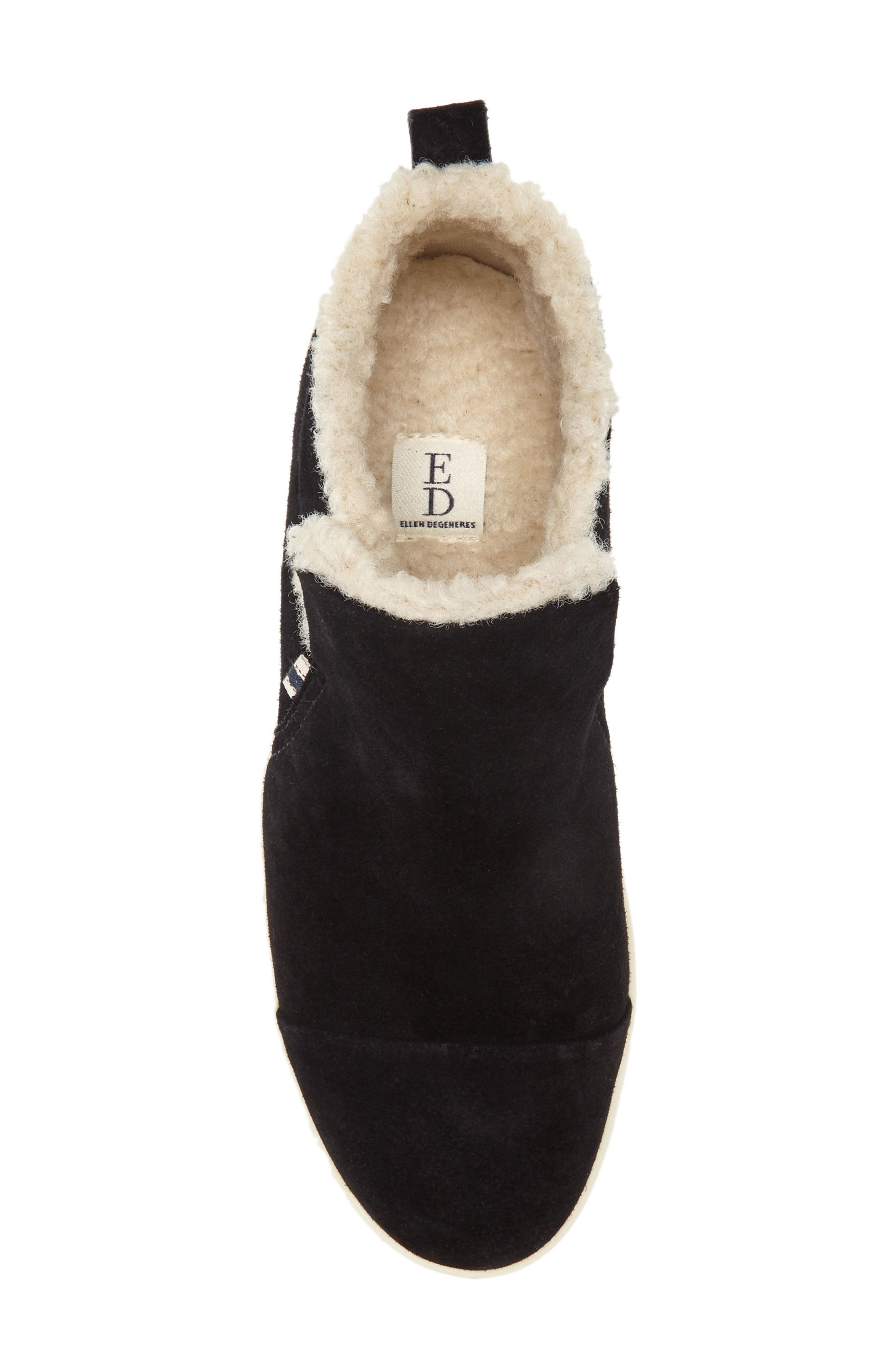 Cambon Faux-Shearling Lined Bootie,                             Alternate thumbnail 4, color,                             002