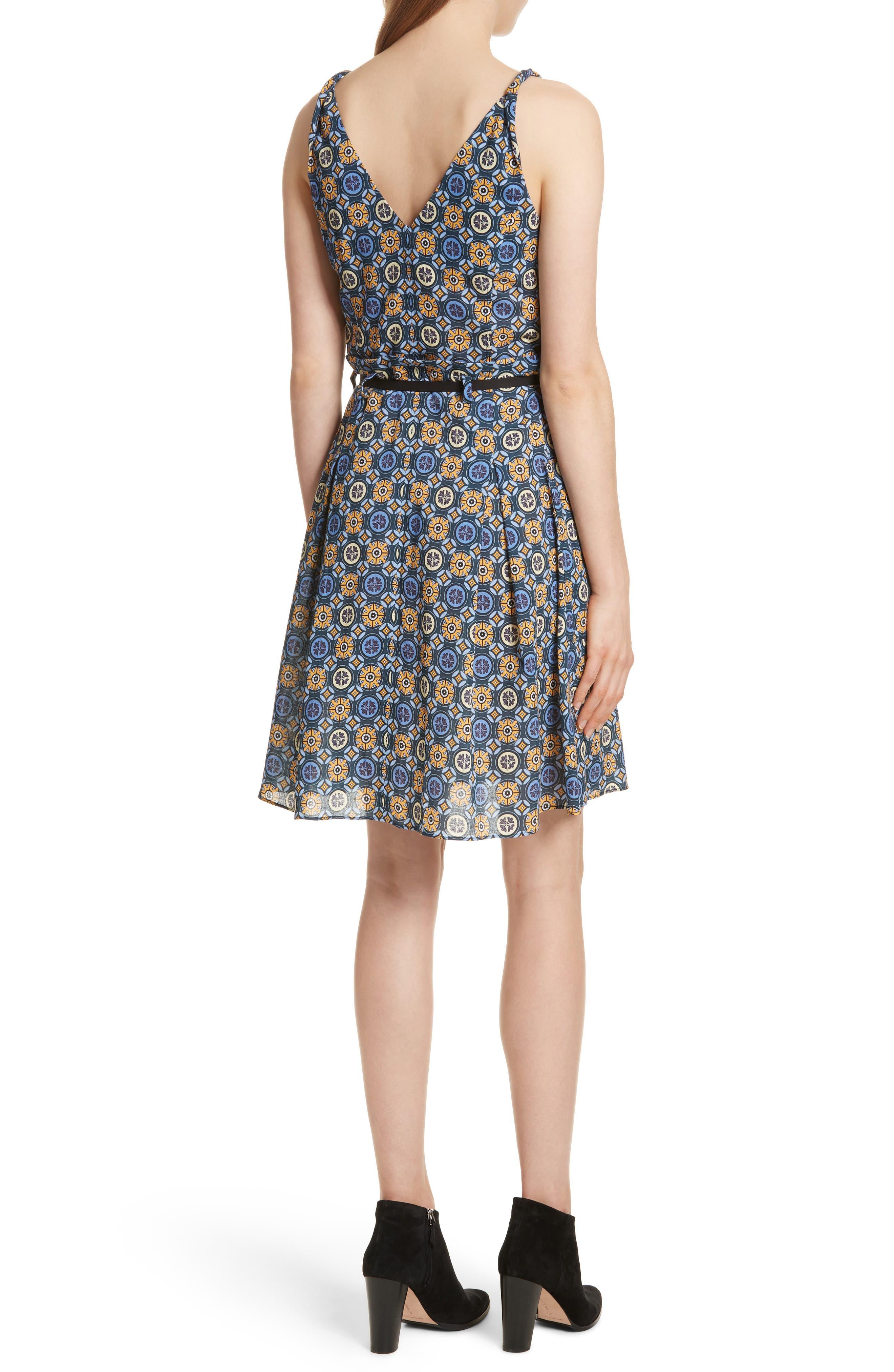 Tile Pattern Cotton Dress,                             Alternate thumbnail 2, color,                             452