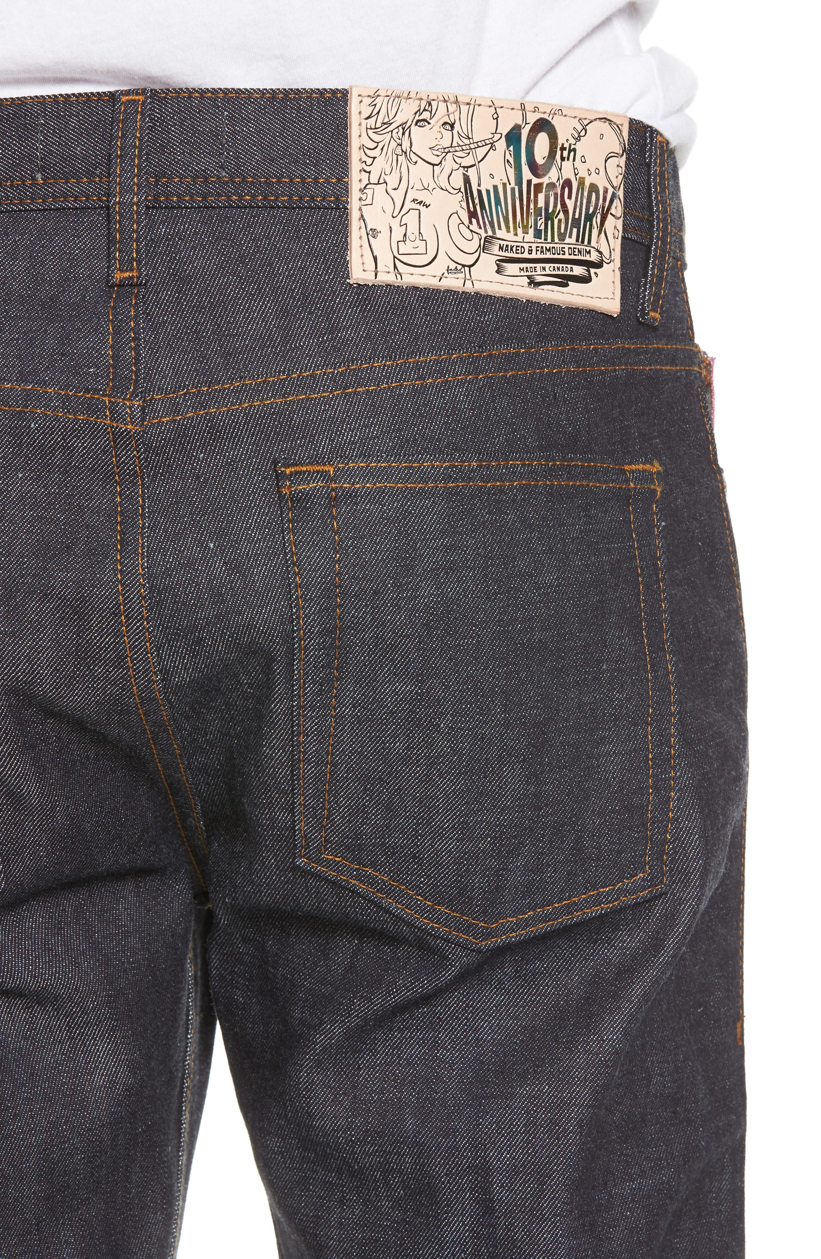 Weird Guy Slim Fit Jeans,                             Alternate thumbnail 4, color,                             401