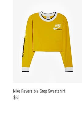 Nike Reversible Crop Sweatshirt, $65