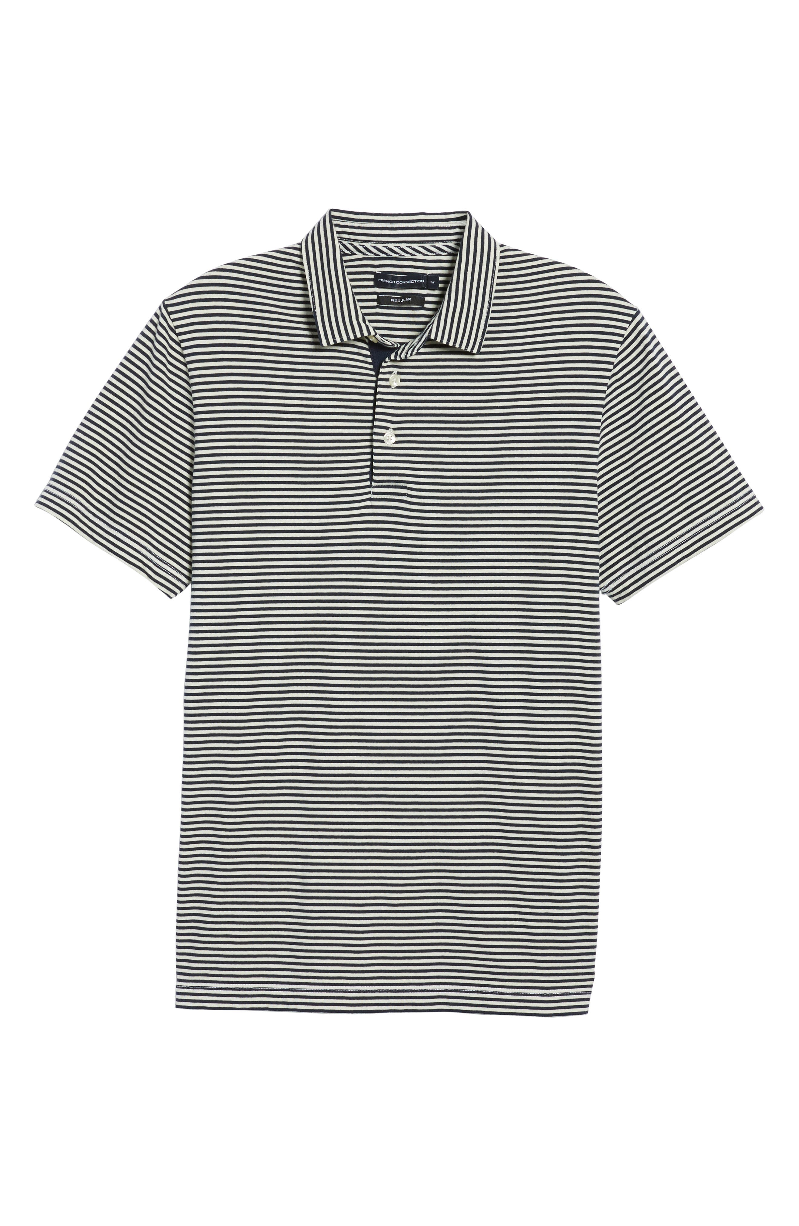 Pinstripe Polo,                             Alternate thumbnail 6, color,