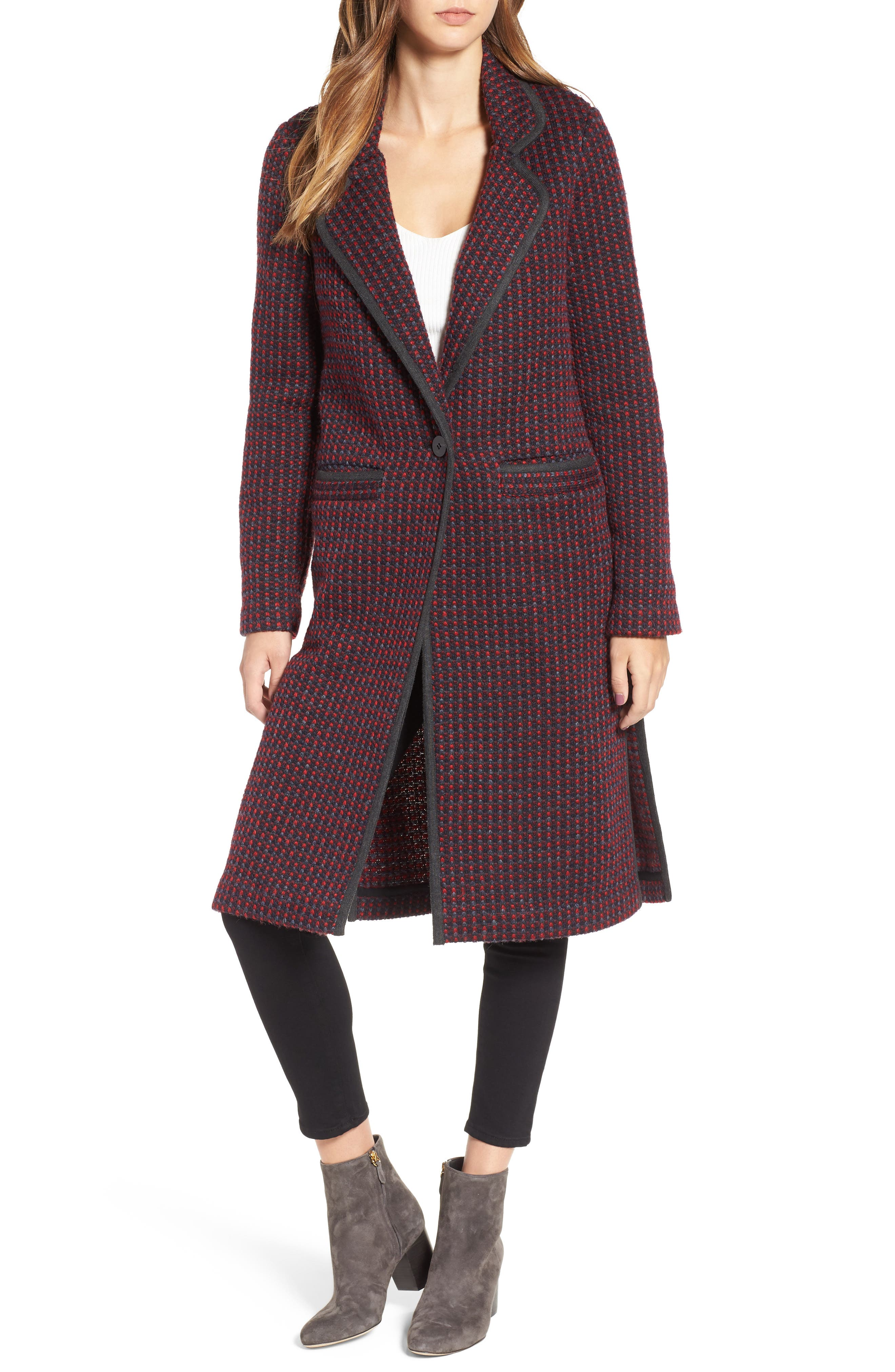 Tweed Coat,                             Alternate thumbnail 4, color,                             610