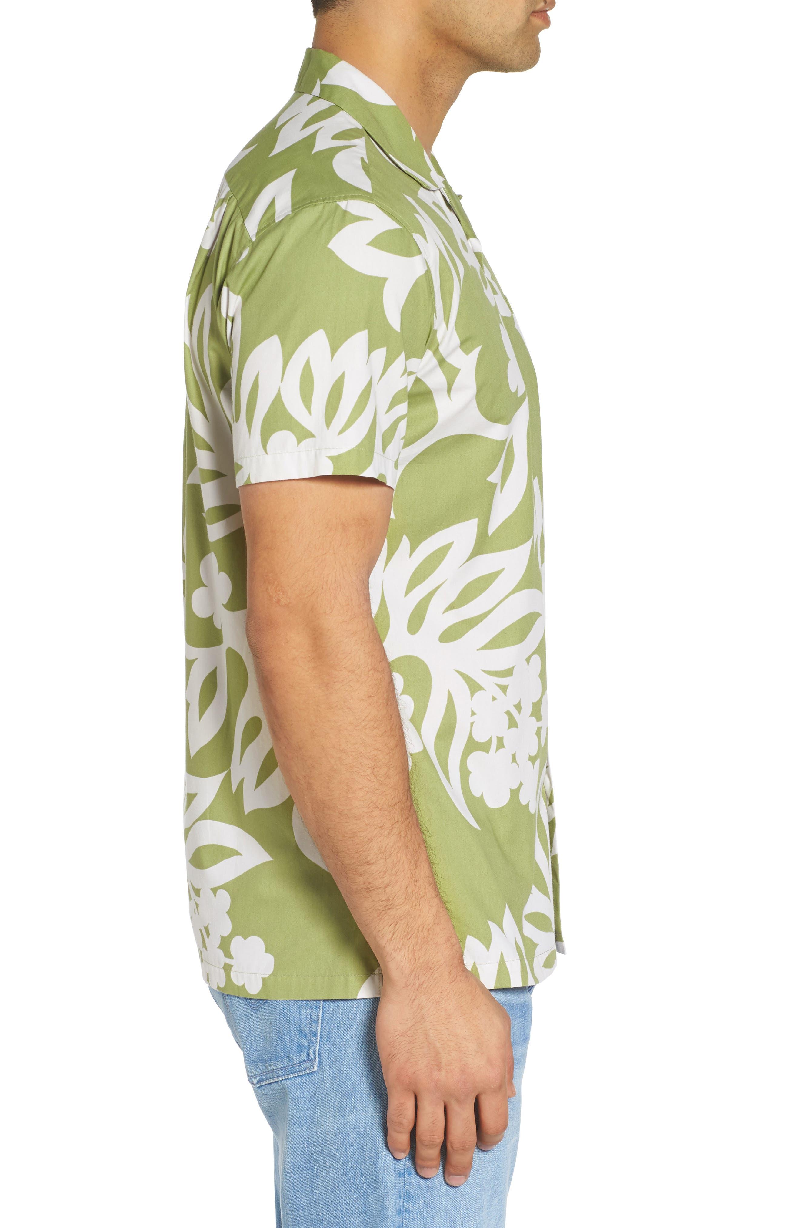 Simple Regular Fit Camp Shirt,                             Alternate thumbnail 3, color,                             335
