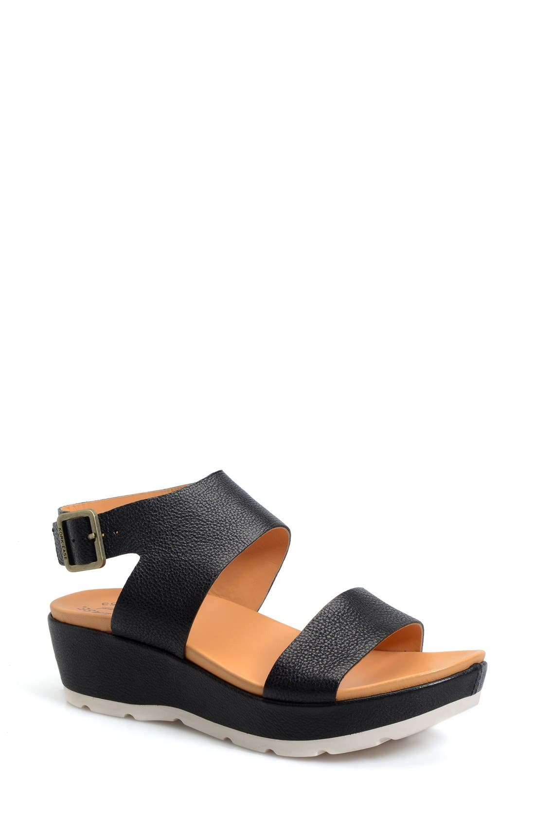 'Khloe' Platform Wedge Sandal,                             Main thumbnail 1, color,                             001