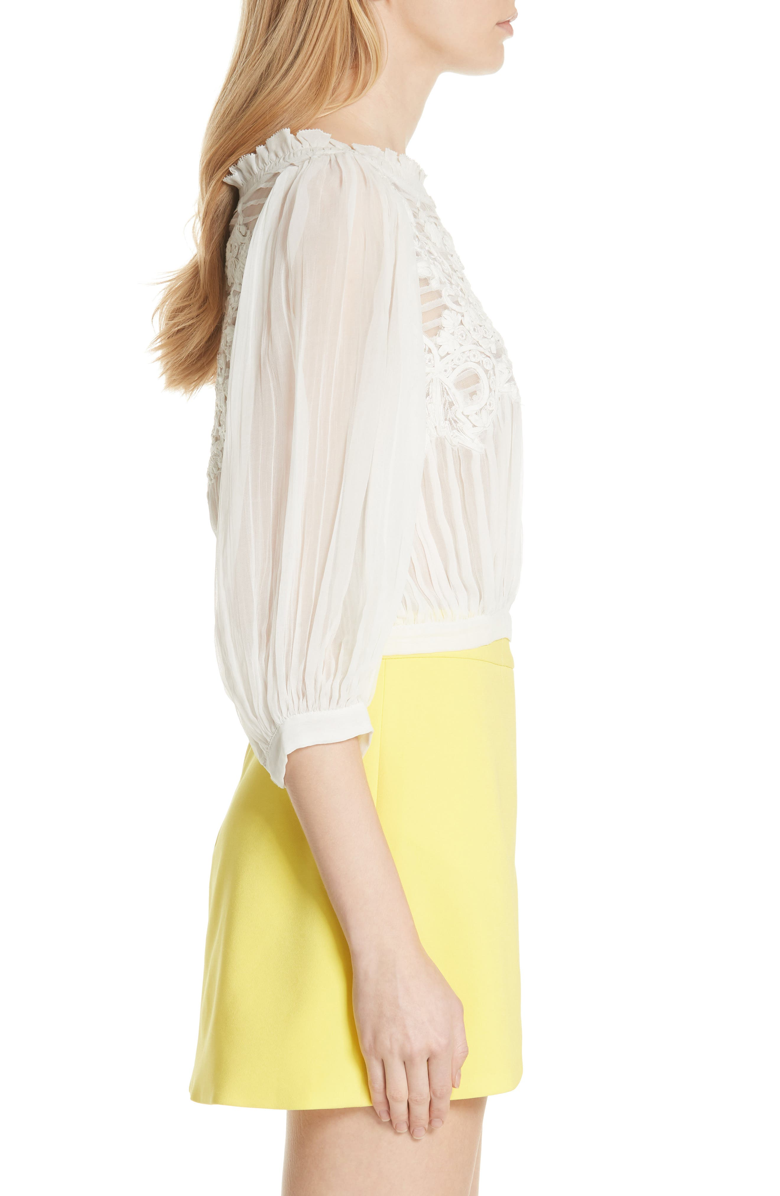 Lavone Embroidered Blouson Top,                             Alternate thumbnail 3, color,