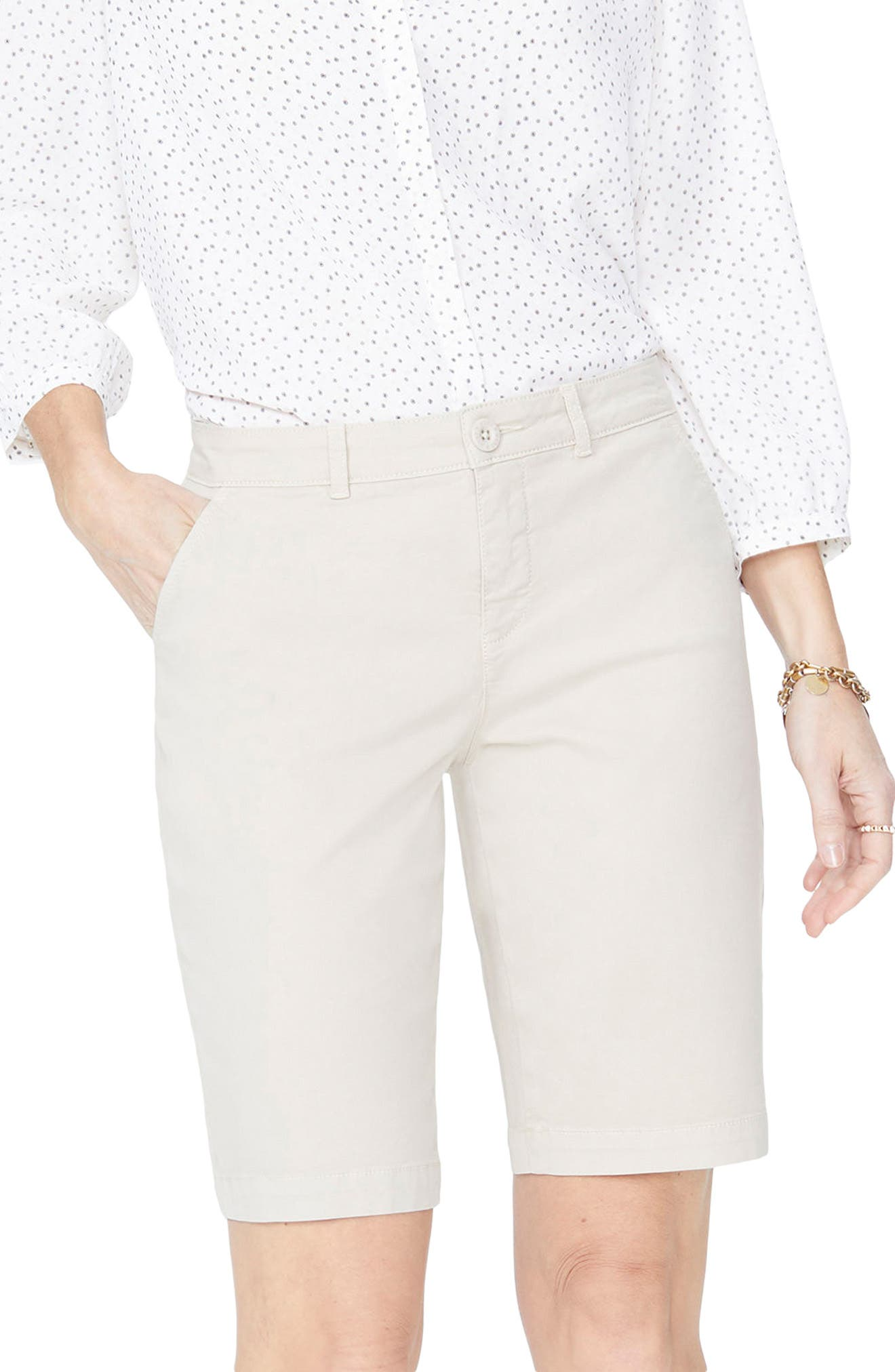 Stretch Twill Bermuda Shorts,                         Main,                         color, FEATHER