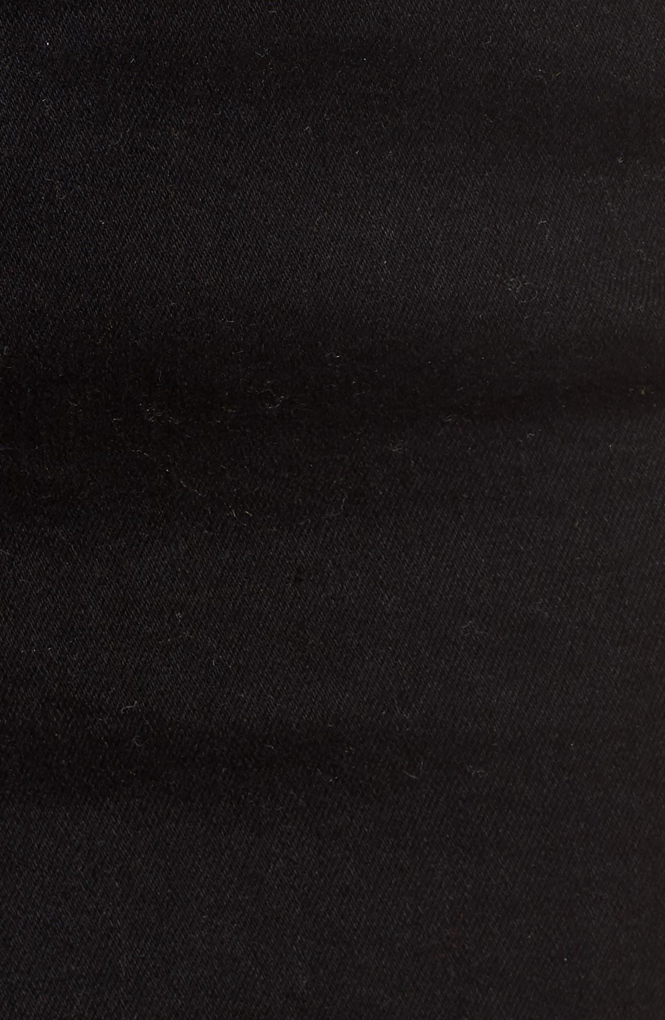 Stretch Denim Miniskirt,                             Alternate thumbnail 5, color,                             001