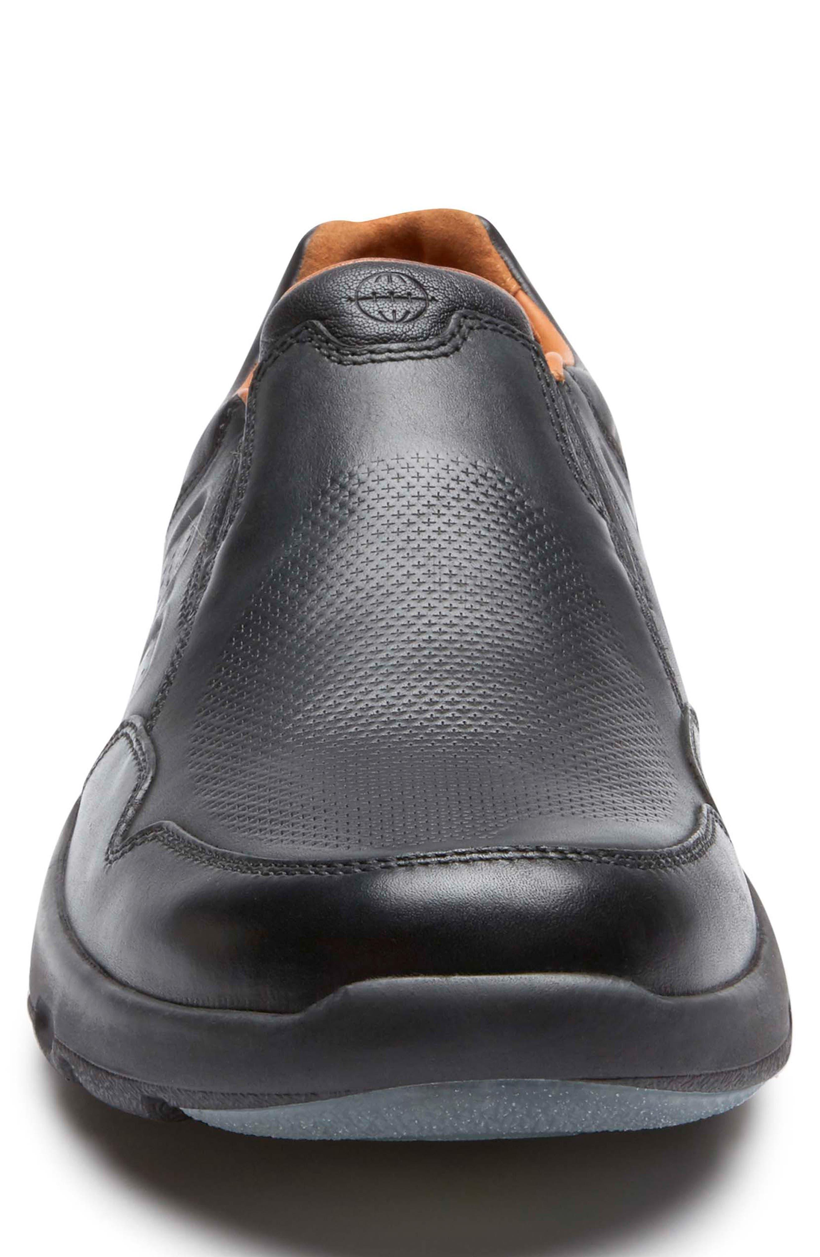 Let's Walk<sup>®</sup> Venetian Loafer,                             Alternate thumbnail 4, color,                             BLACK LEATHER