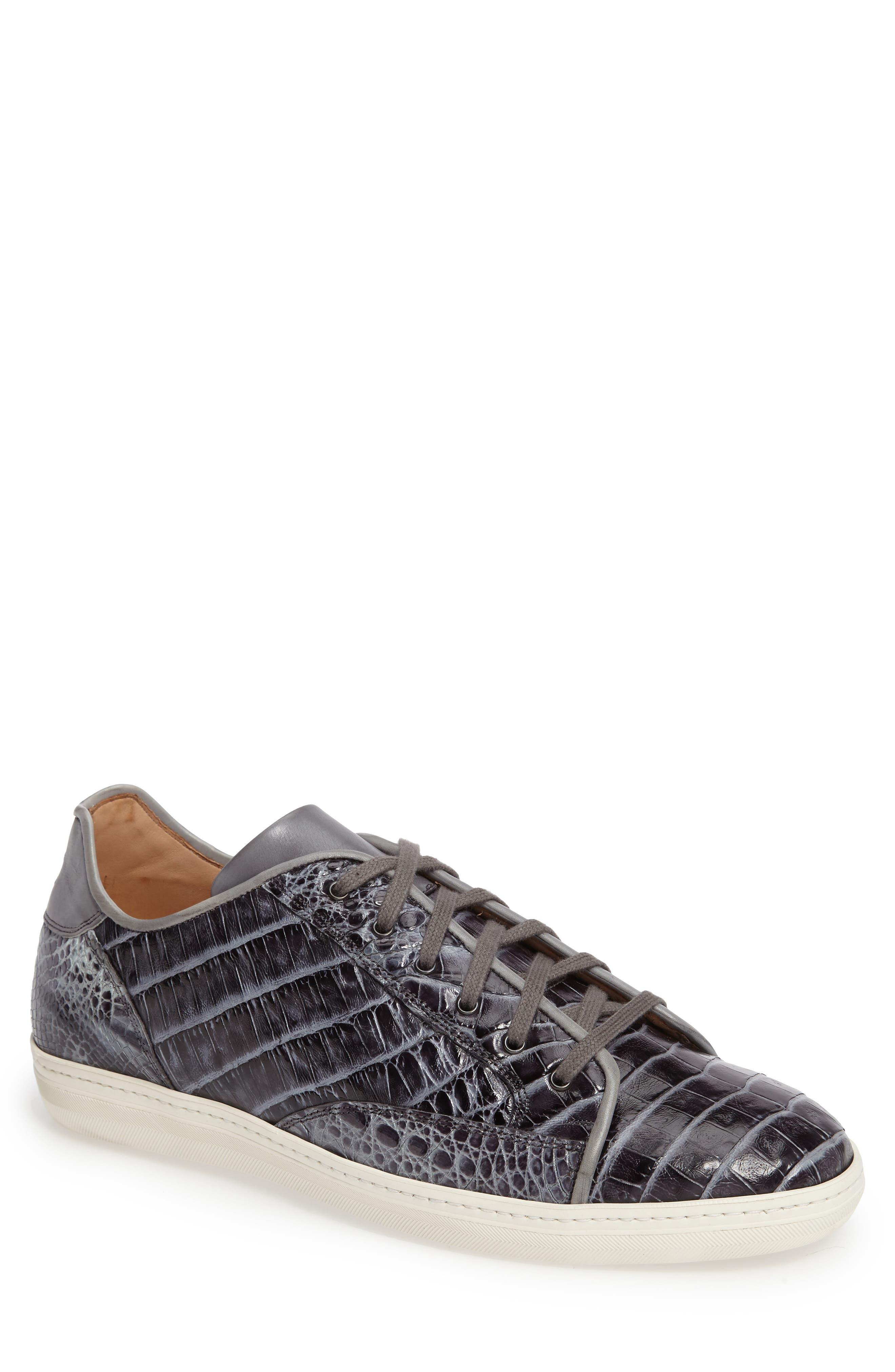 Hickman Genuine Crocodile Sneaker,                             Main thumbnail 1, color,                             020