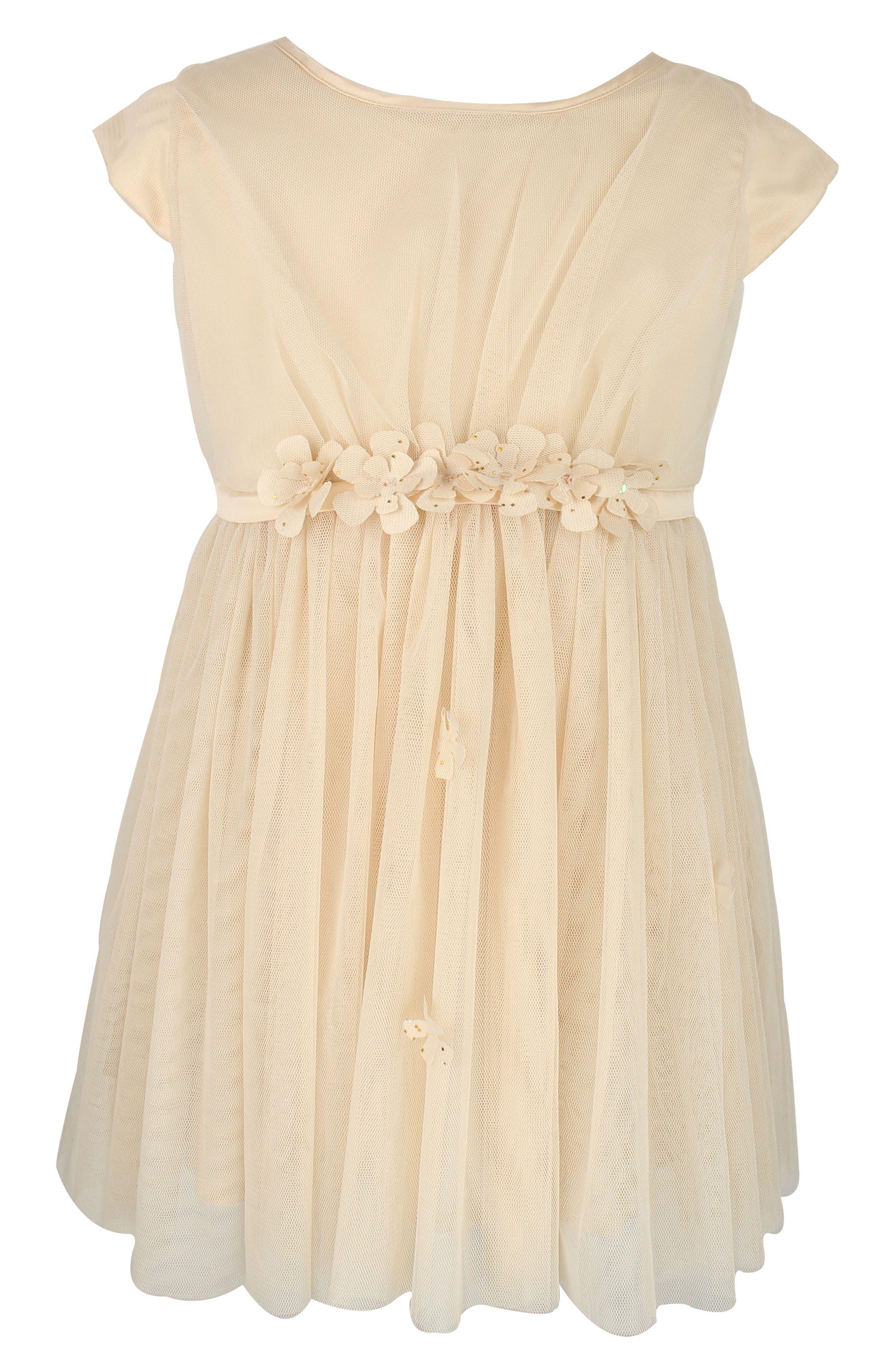 Embellished Tulle Dress,                         Main,                         color, IVORY