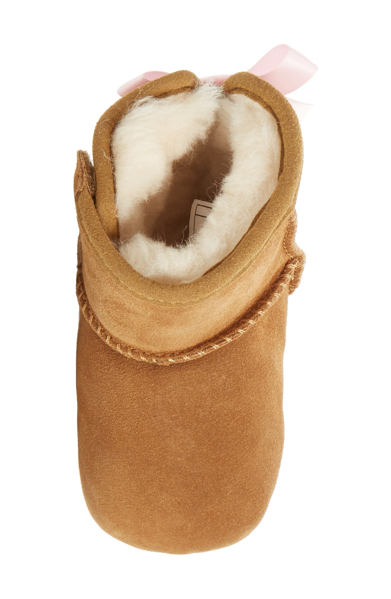 Jesse Bow II Bootie,                             Alternate thumbnail 5, color,                             CHESTNUT BROWN