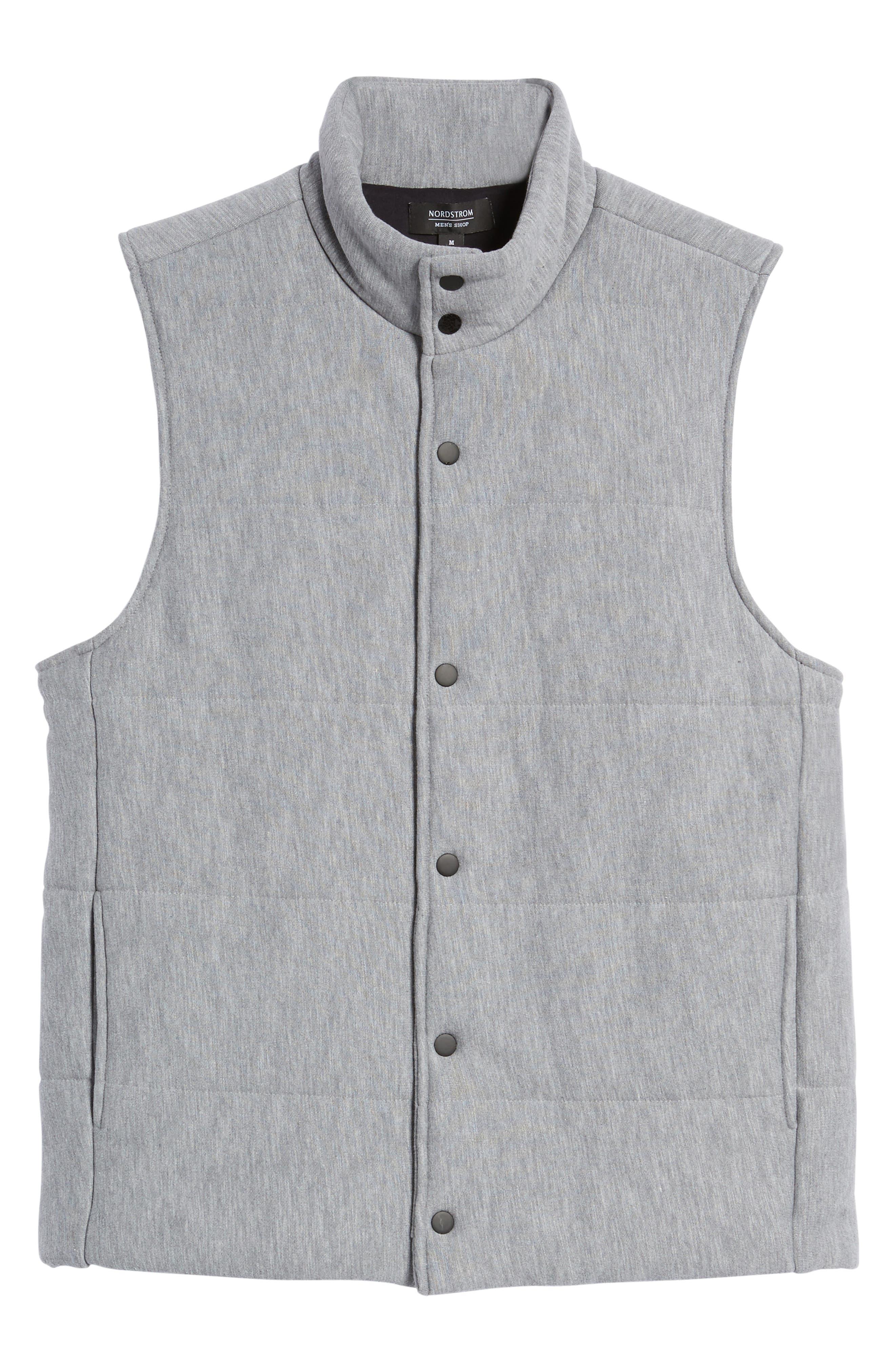 Quilted Fleece Vest,                             Alternate thumbnail 9, color,