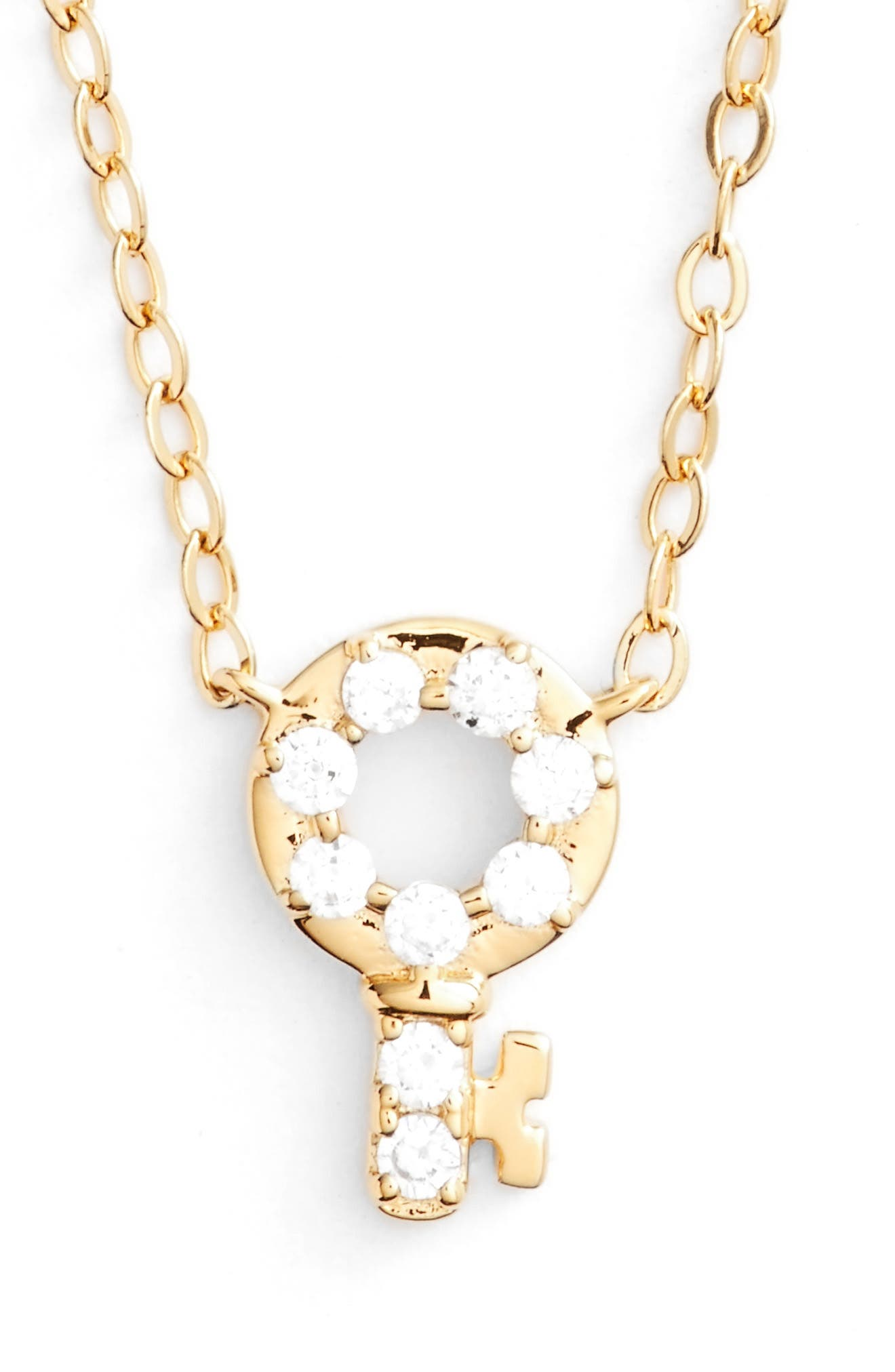 Reminisce Crystal Key Pendant Necklace,                             Main thumbnail 2, color,
