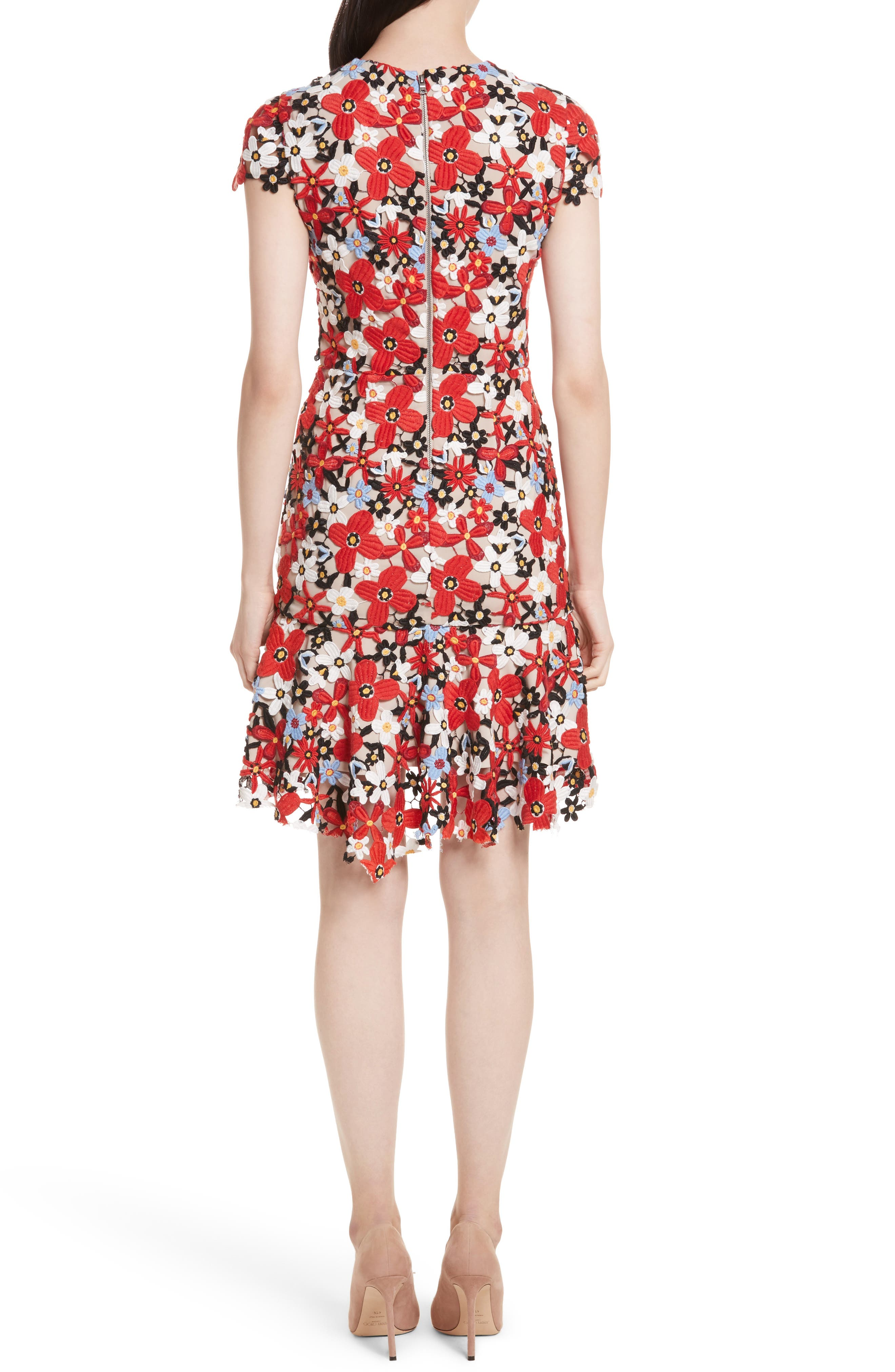 Imani Floral Fit & Flare Dress,                             Alternate thumbnail 2, color,                             606
