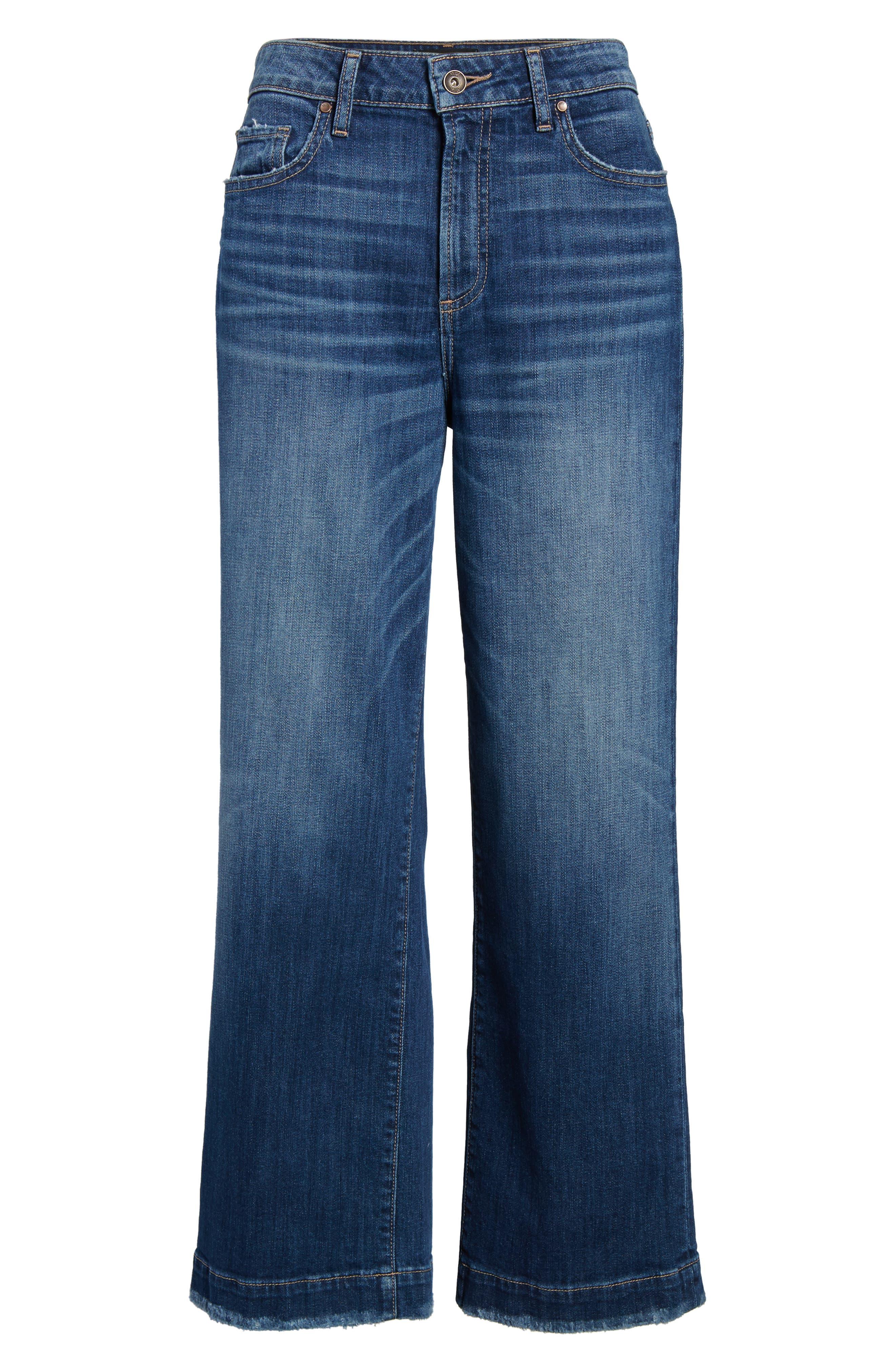 Nellie High Waist Culotte Jeans,                             Alternate thumbnail 7, color,                             400