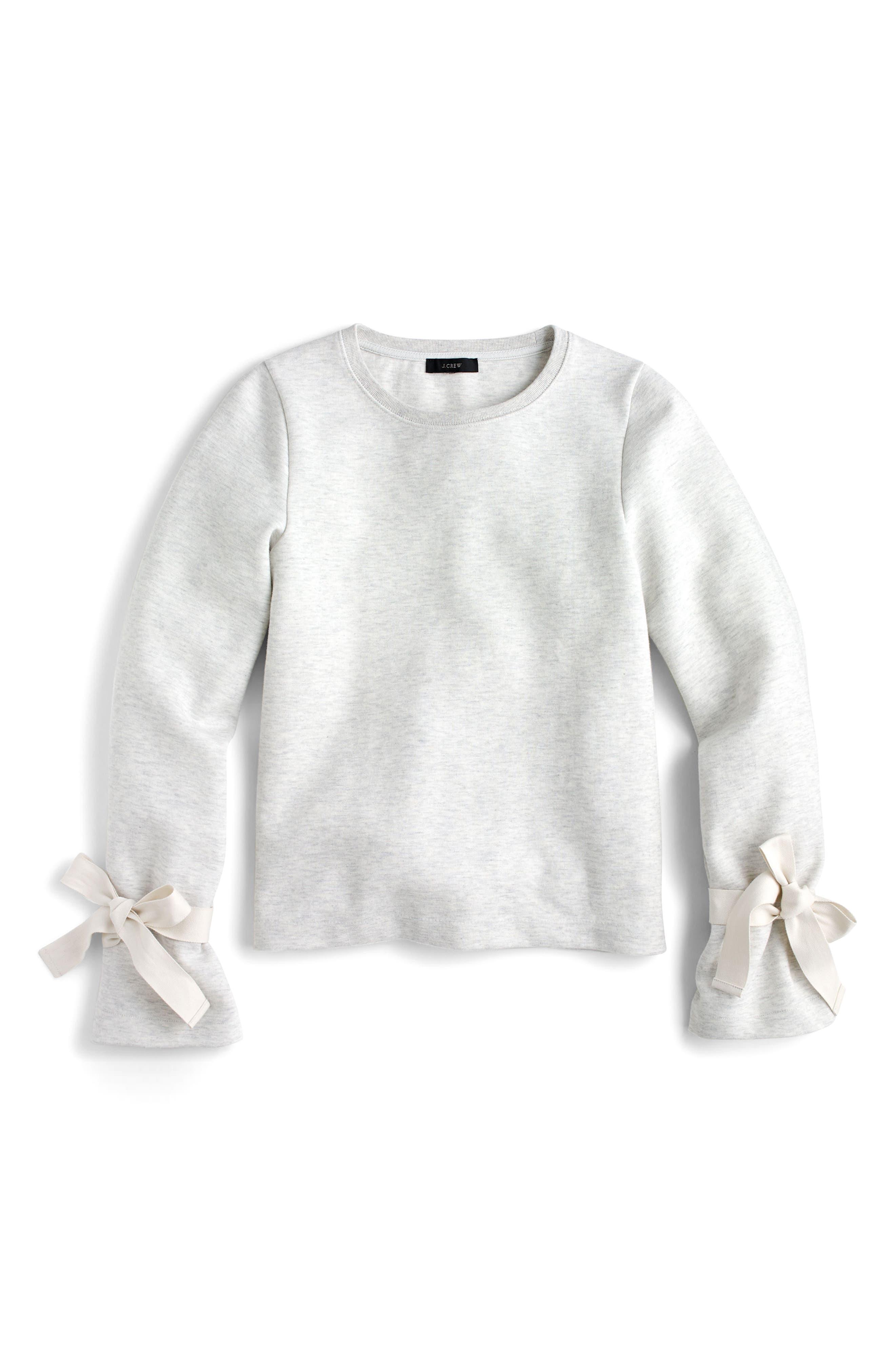 Tie Sleeve Sweatshirt,                         Main,                         color,