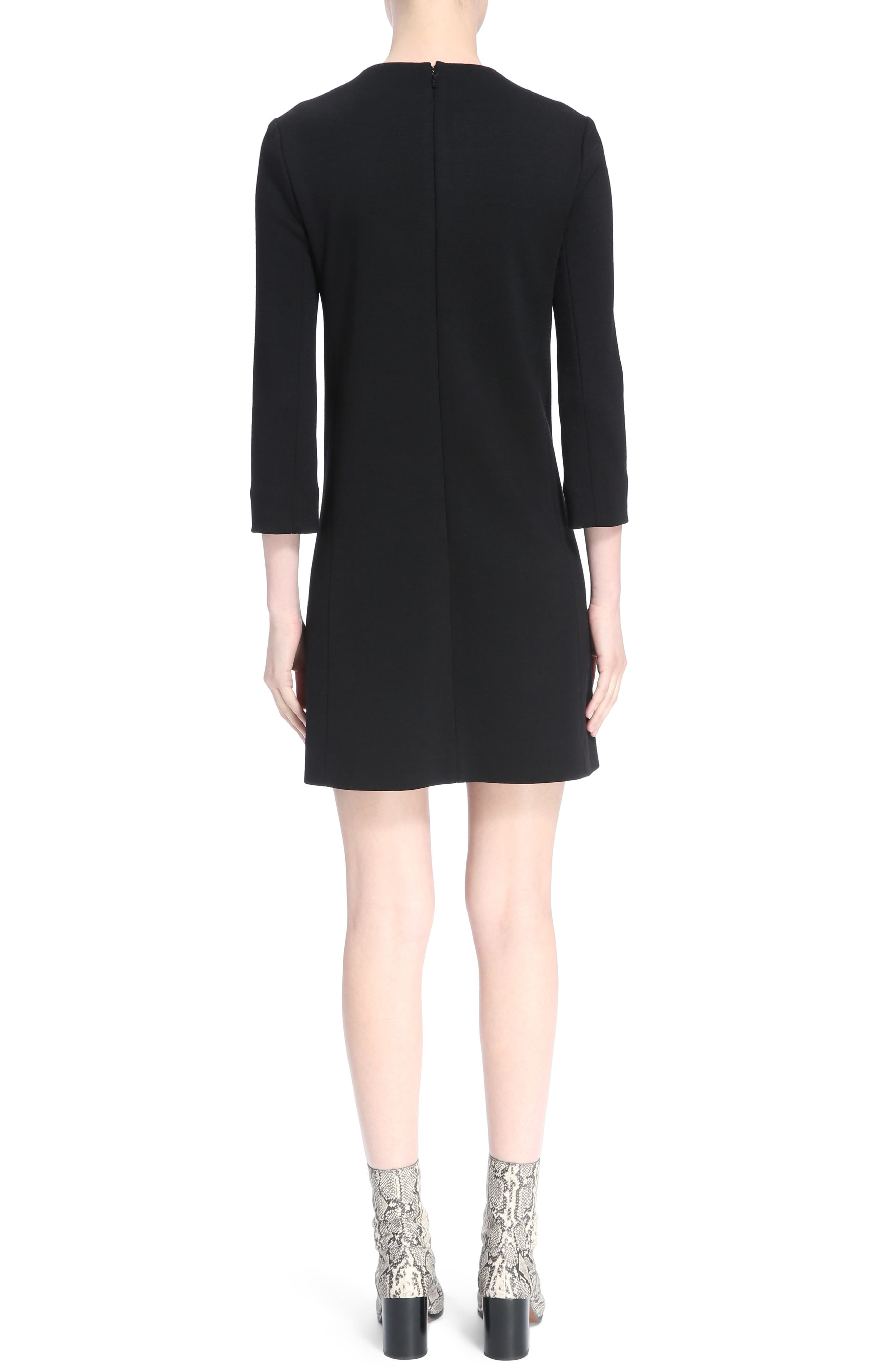 Button Trim Wool Knit Dress,                             Alternate thumbnail 2, color,