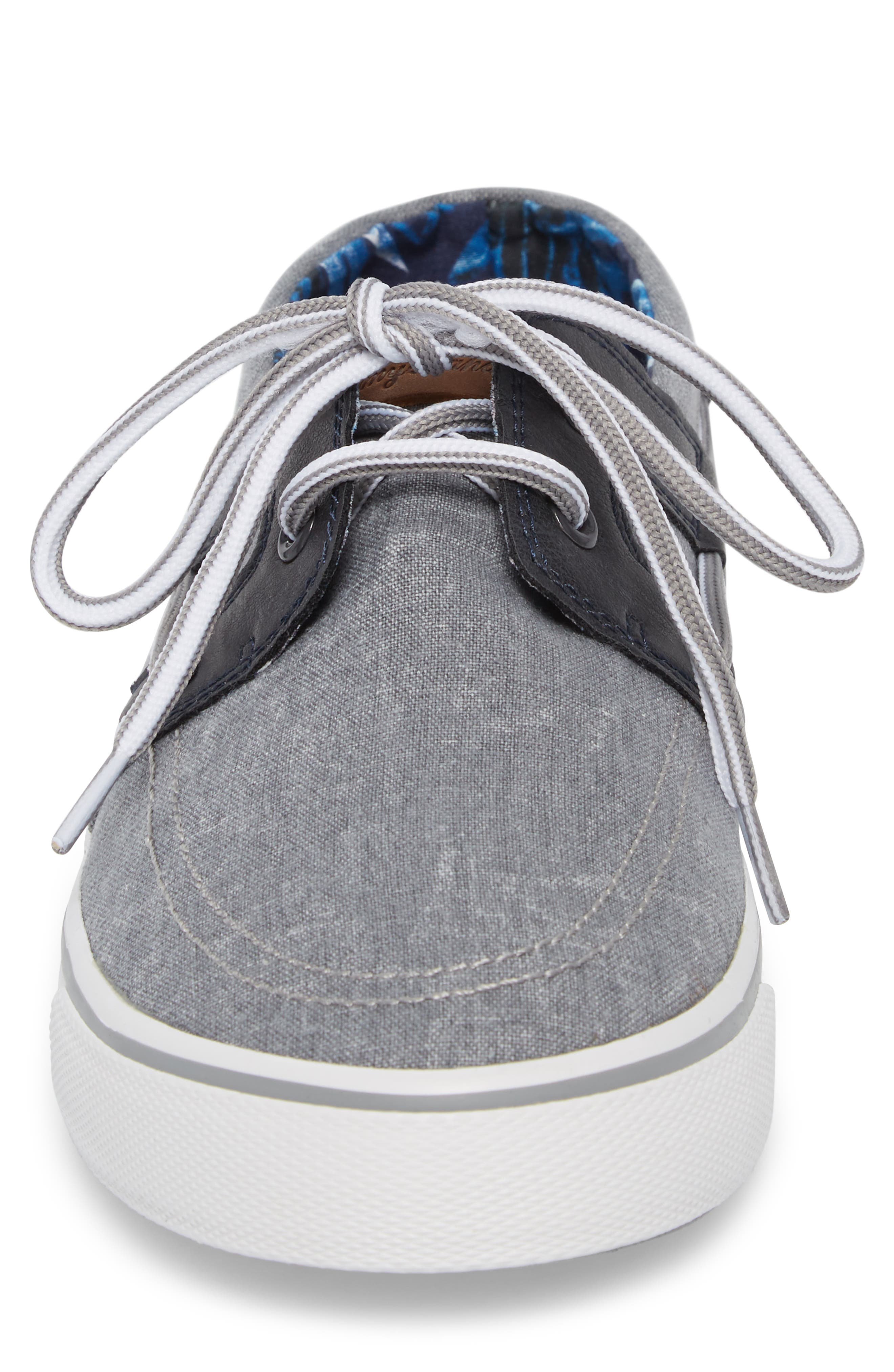 Stripe Breaker Sneaker,                             Alternate thumbnail 4, color,                             GREY/ BLACK LINEN/ LEATHER