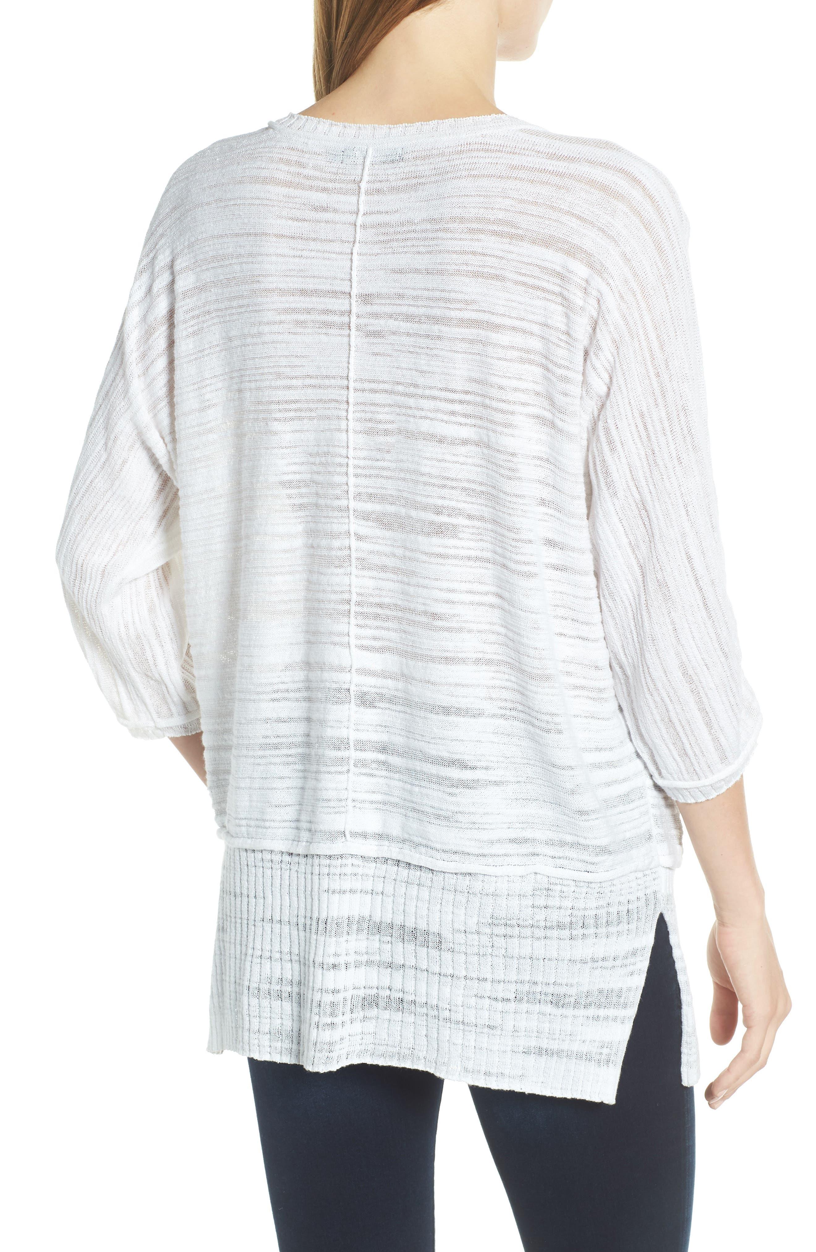 NIC+ZOE,                             Open Breeze Linen Cotton Blend Sweater,                             Alternate thumbnail 2, color,                             123
