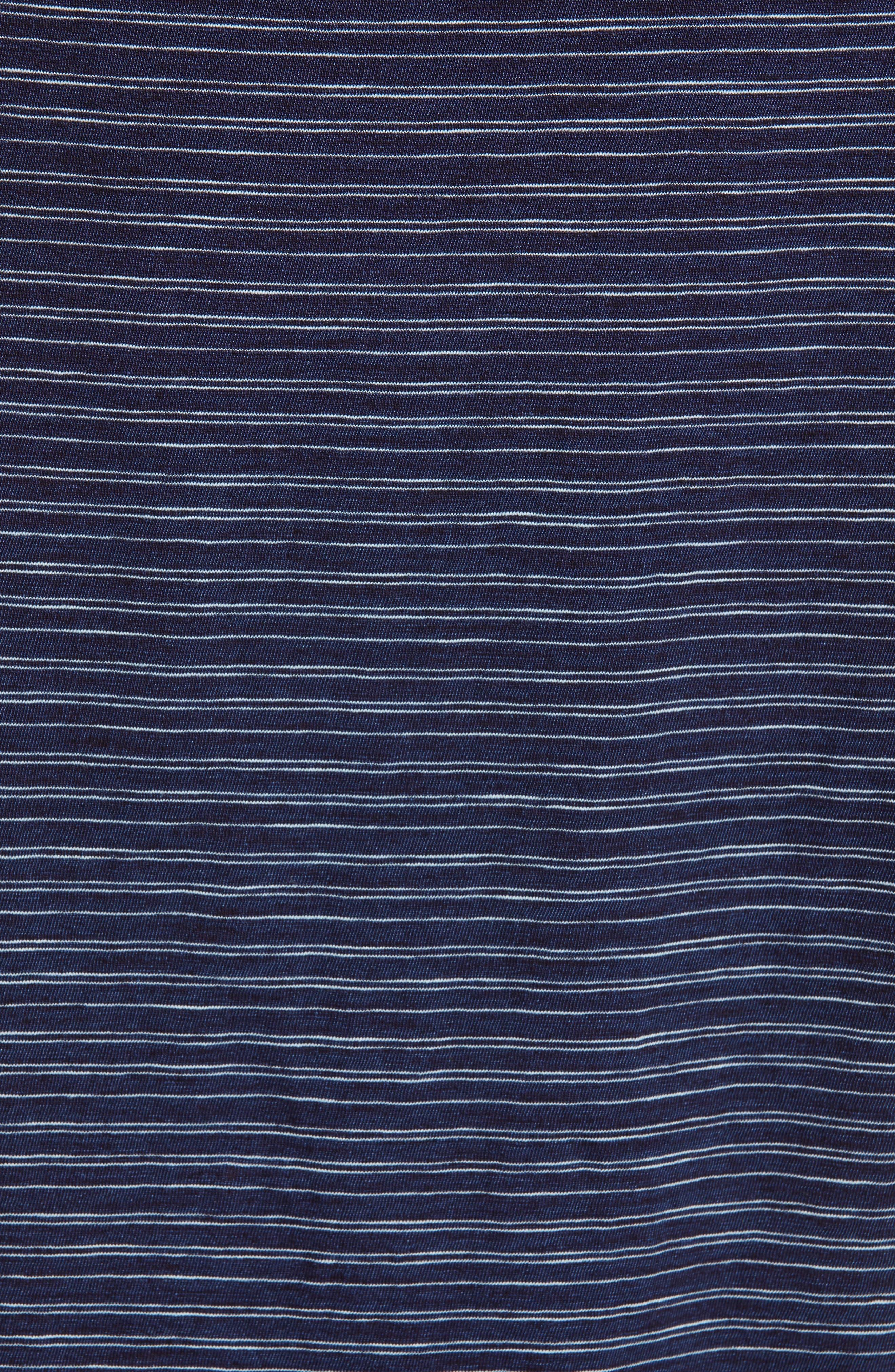 Indigo Stripe Wide Sleeve Tee,                             Alternate thumbnail 5, color,                             INDIGO/ OFF WHITE