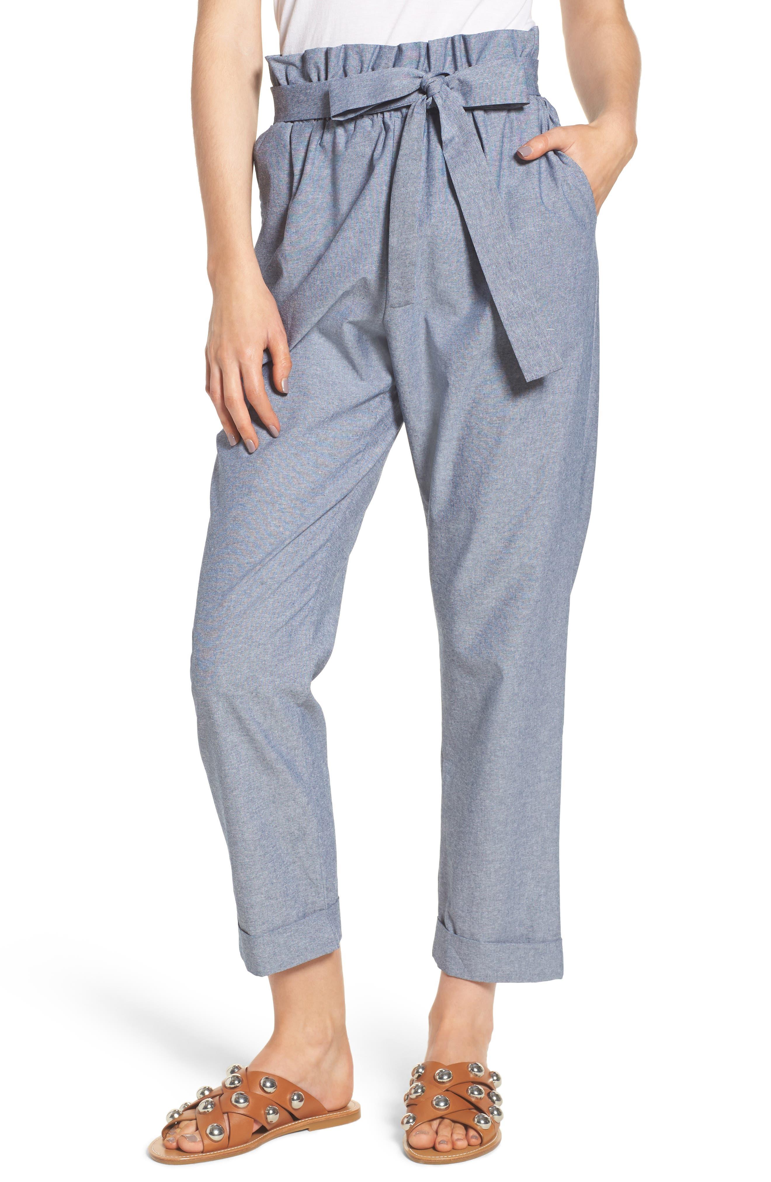 Paperbag Waist Pants,                         Main,                         color, 410
