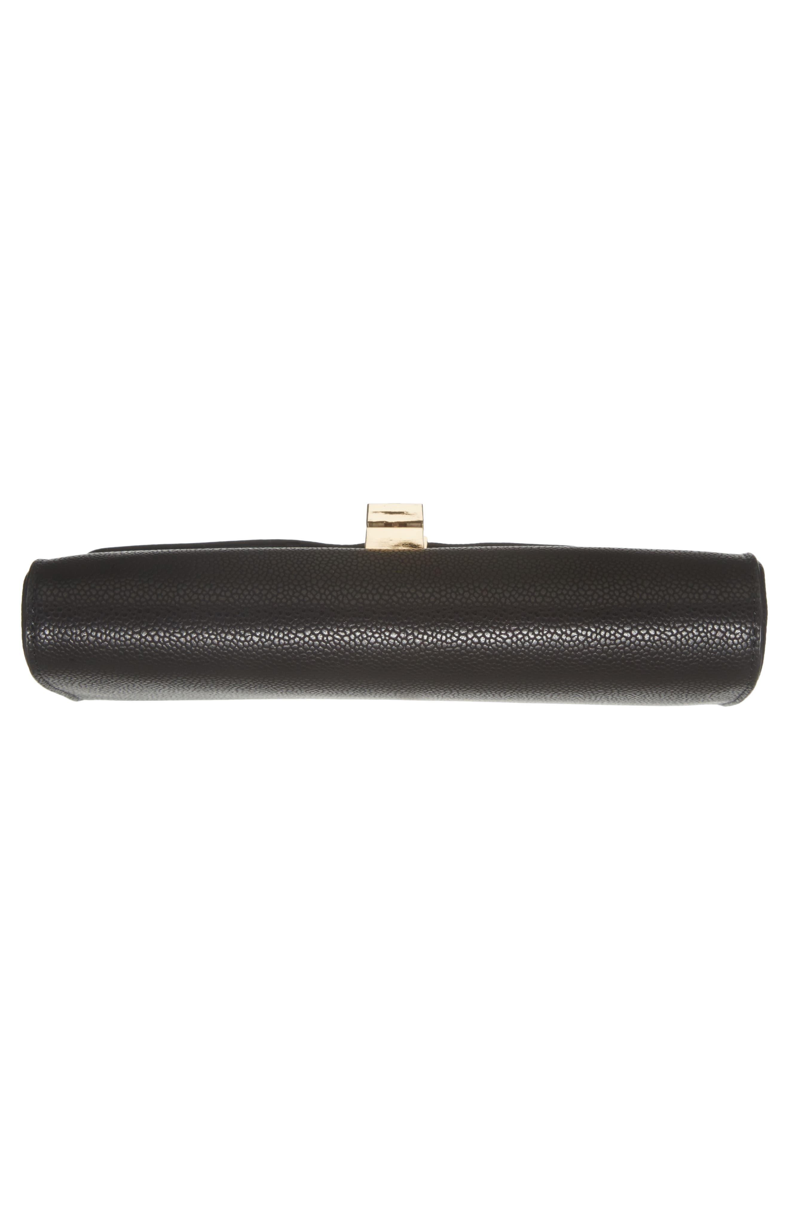 Faux Leather Envelope Crossbody Bag,                             Alternate thumbnail 6, color,