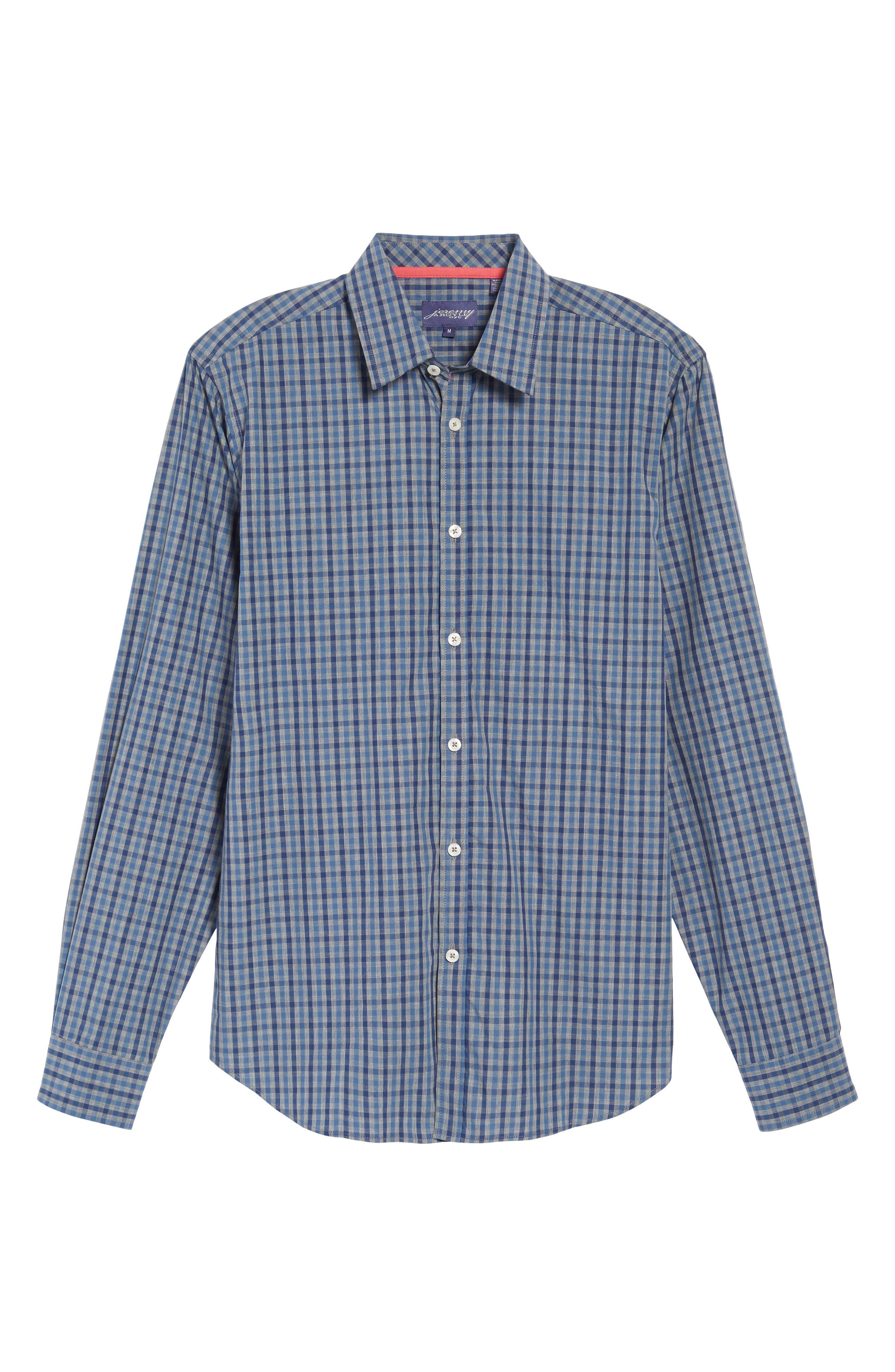 Slim Fit Check Sport Shirt,                             Alternate thumbnail 6, color,                             024