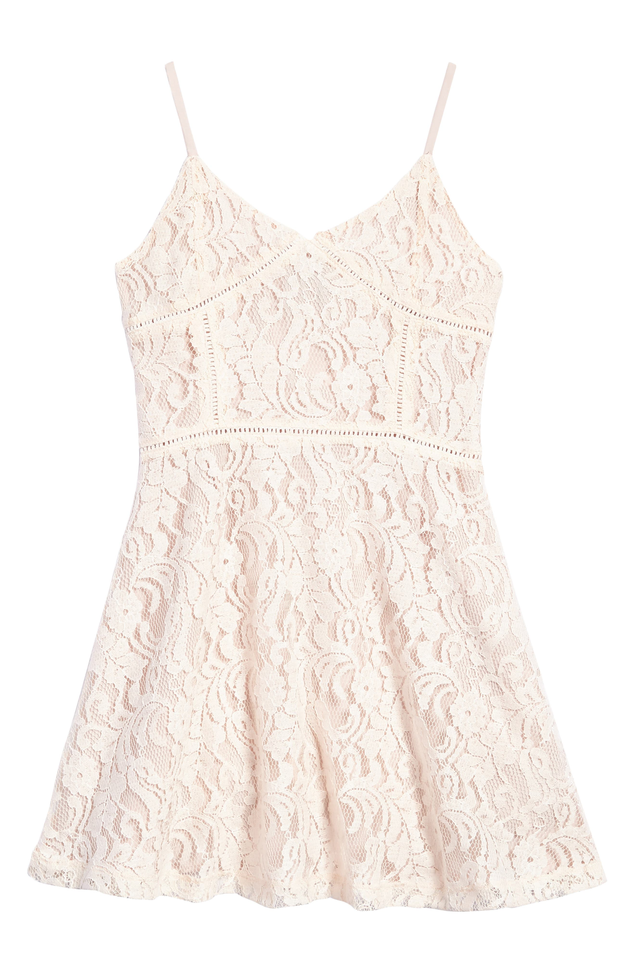 Lace Overlay Sundress,                             Main thumbnail 1, color,                             950