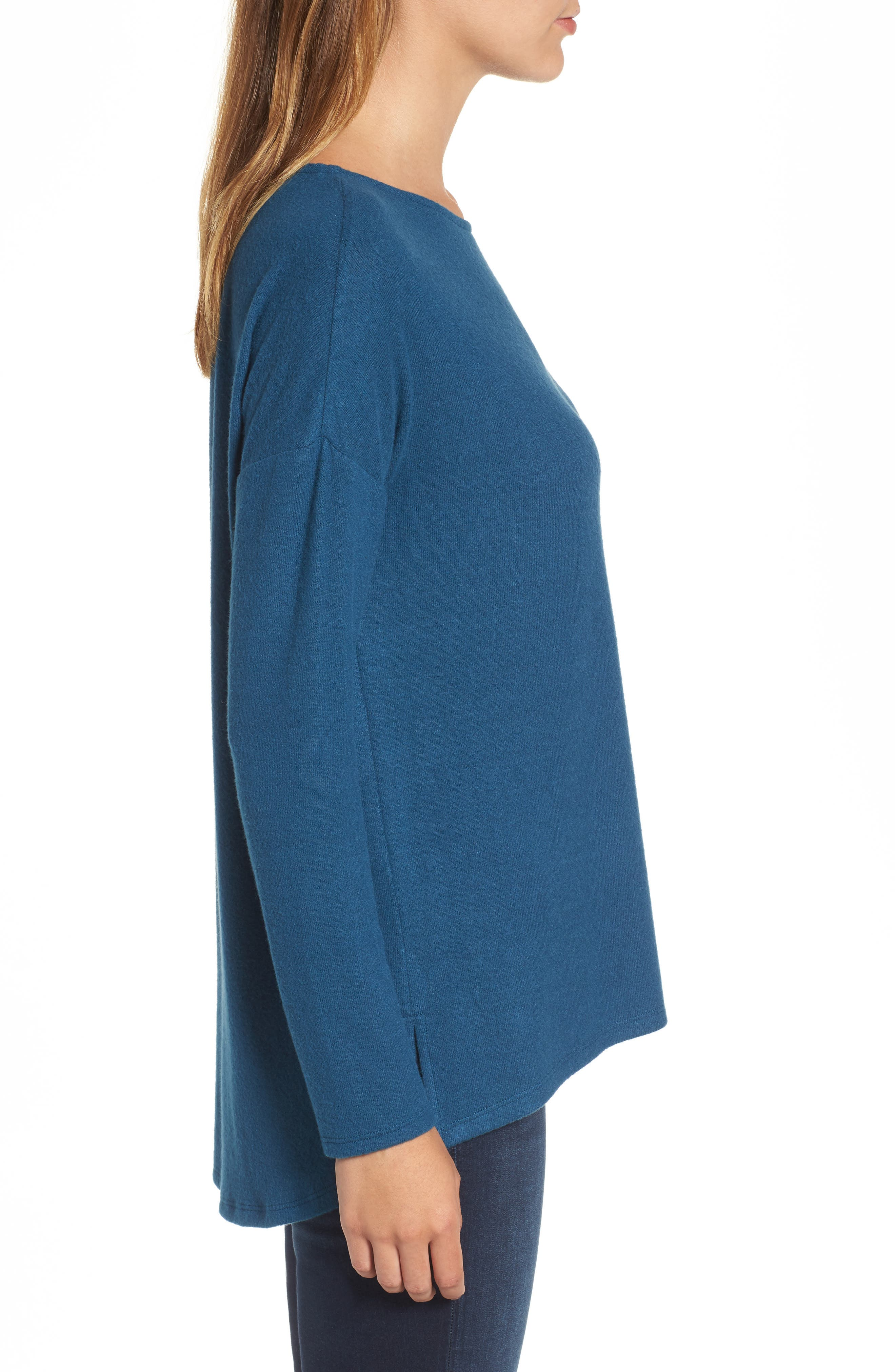 Cozy Ballet Neck High/Low Pullover,                             Alternate thumbnail 39, color,