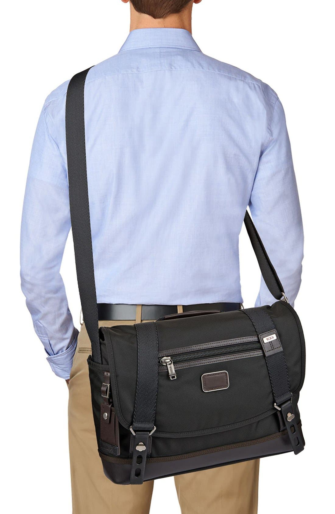 'Alpha Bravo - Foster' Messenger Bag,                             Alternate thumbnail 4, color,                             001