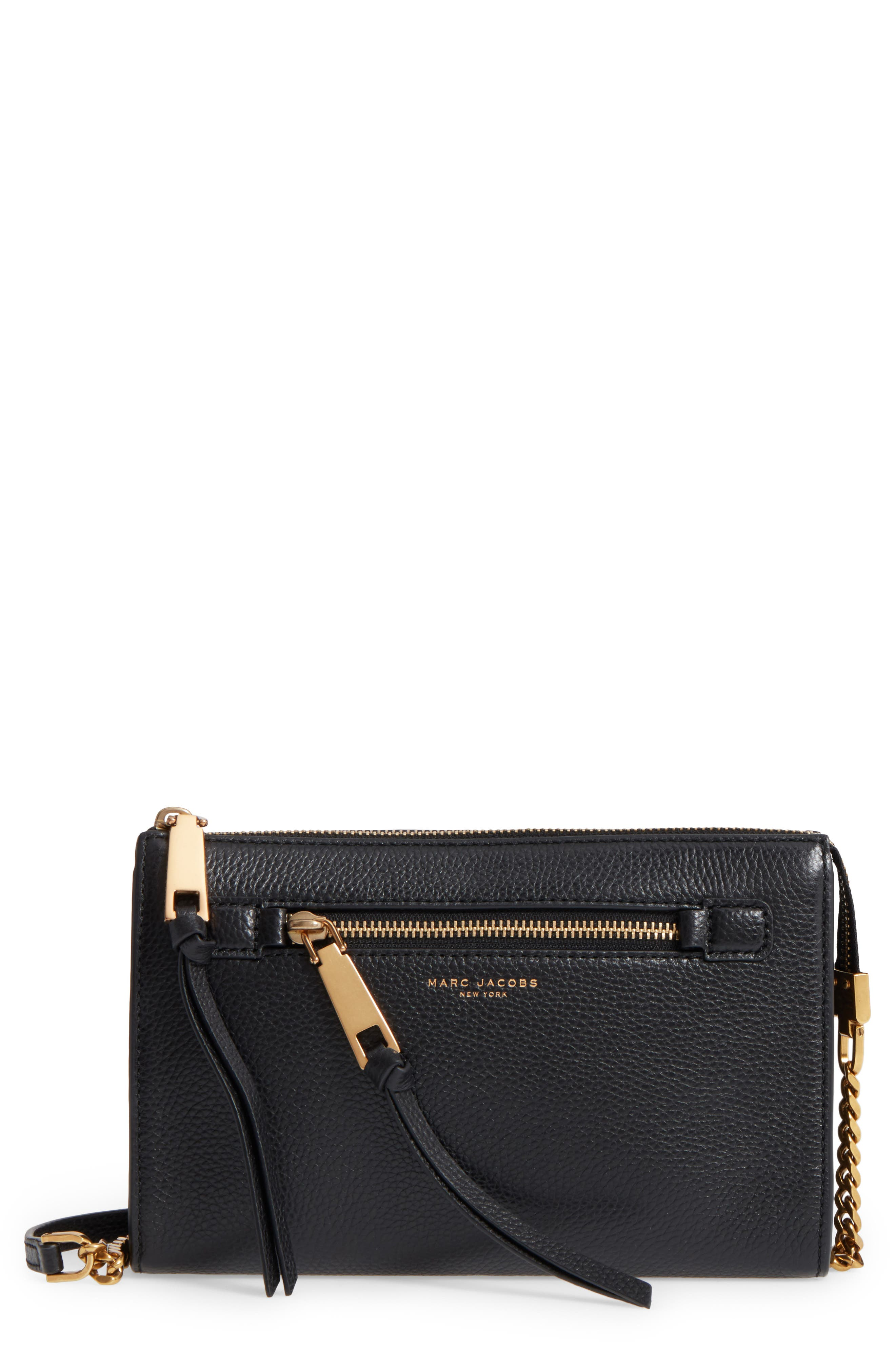 Small Recruit Leather Crossbody Bag,                         Main,                         color, 001