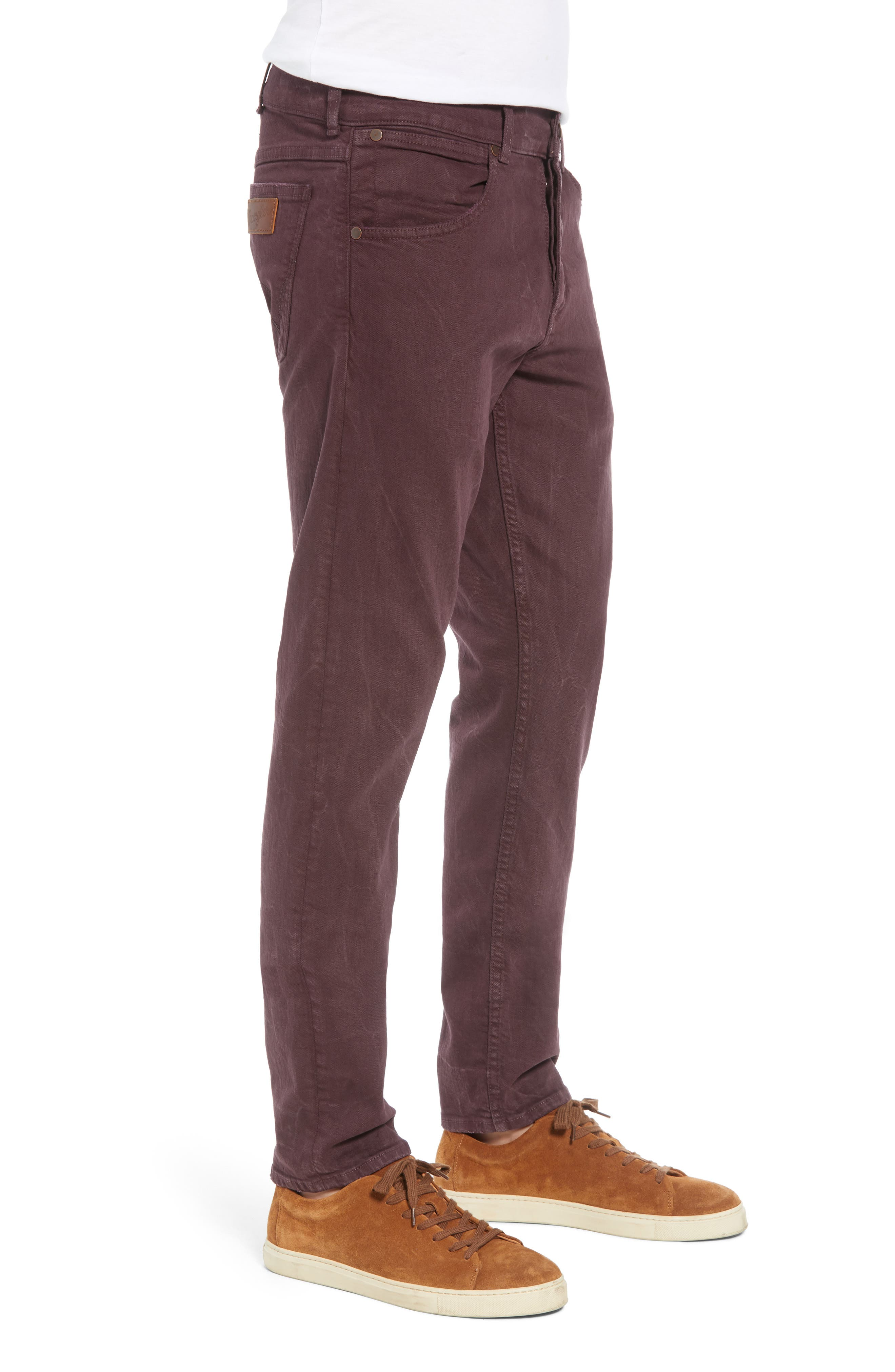 Larston Slim Fit Jeans,                             Alternate thumbnail 3, color,                             AUBERGINE