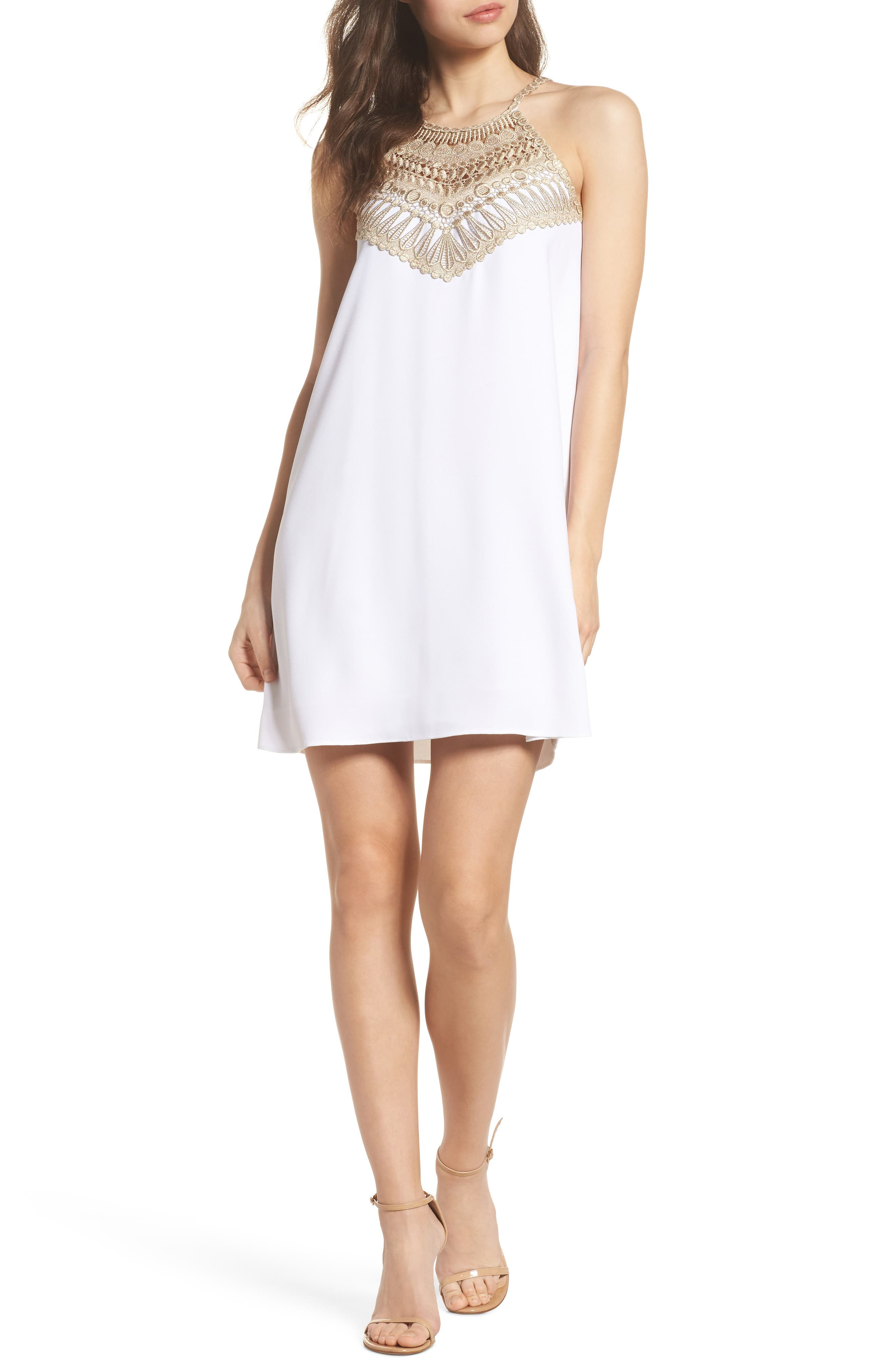 LILLY PULITZER<SUP>®</SUP>,                             Pearl Shift Dress,                             Alternate thumbnail 5, color,                             100