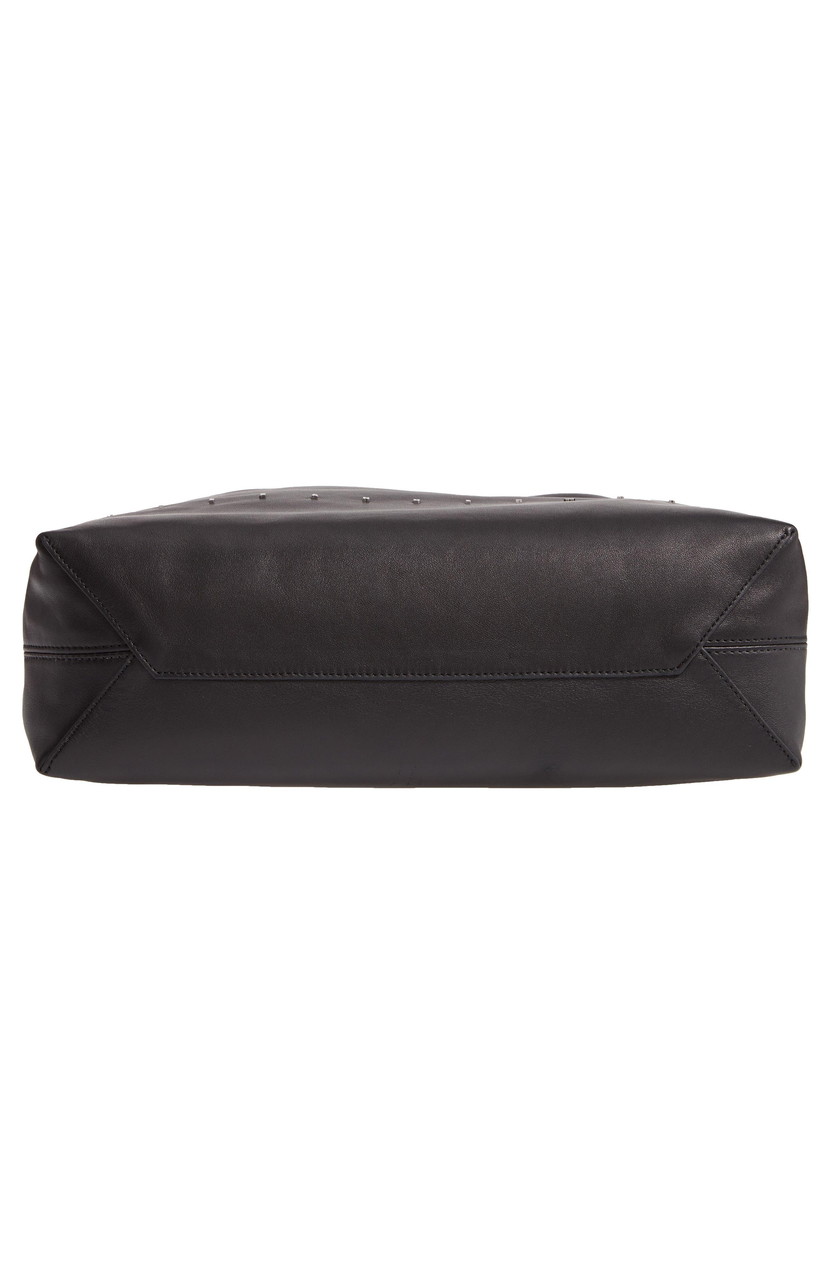 Wefty Drawstring Bucket Bag,                             Alternate thumbnail 6, color,                             BLACK