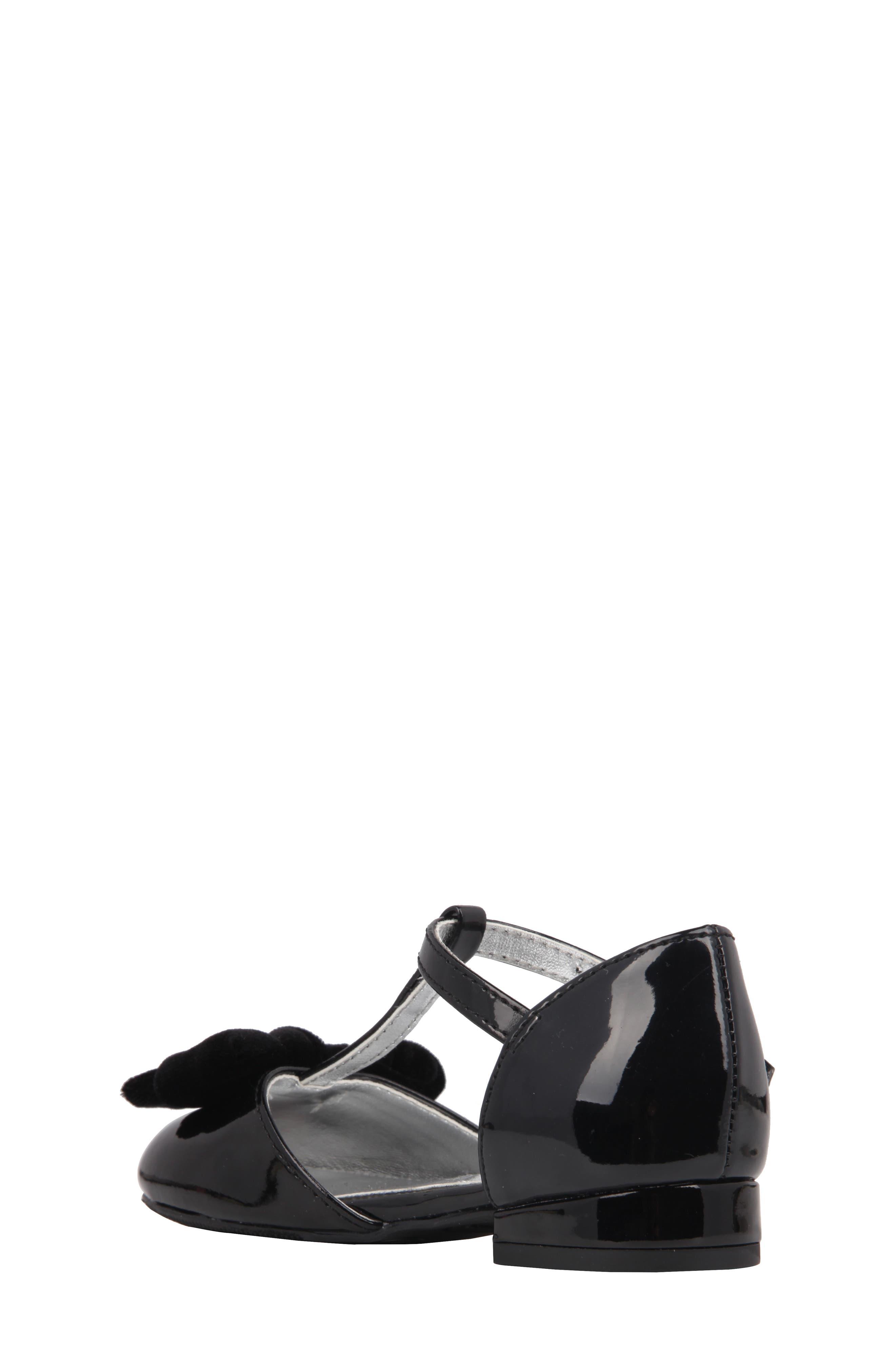 Almira T-Strap Bow Flat,                             Alternate thumbnail 2, color,                             012