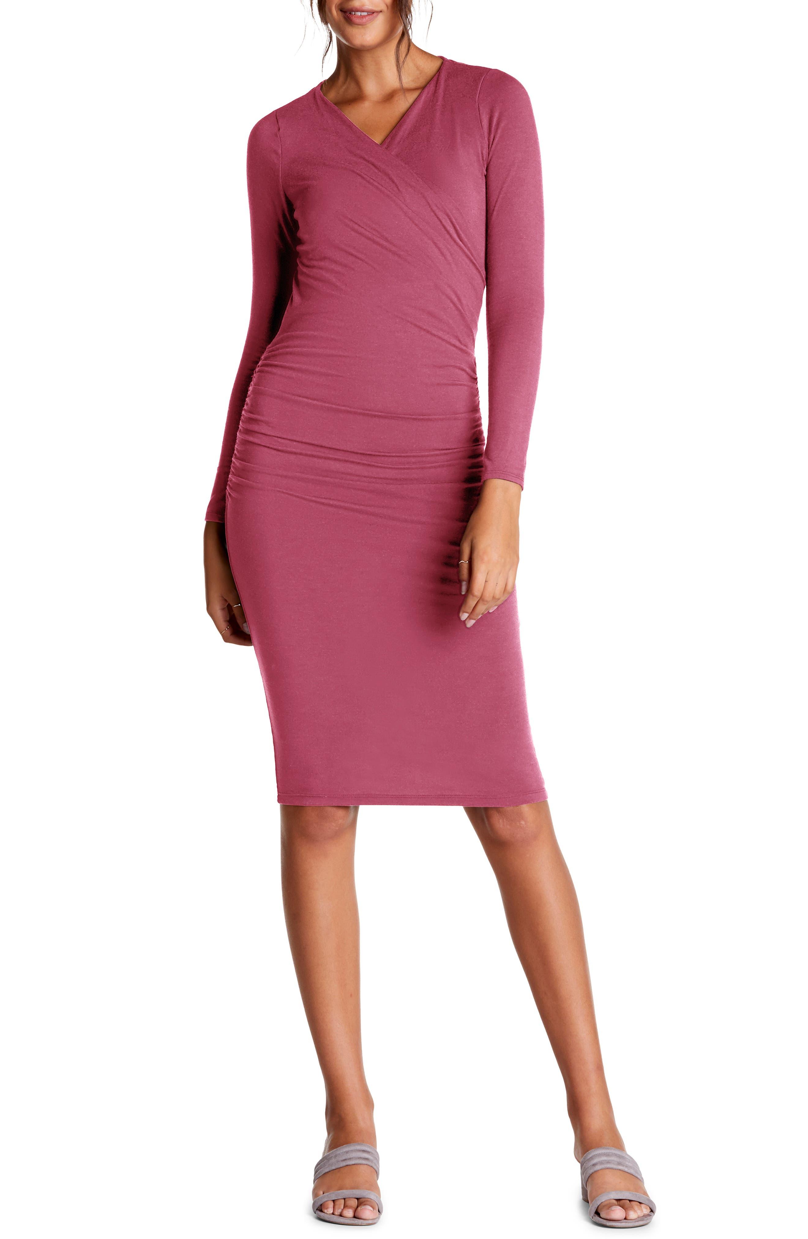 Michael Stars Mikaela Crossover Knit Dress, Pink