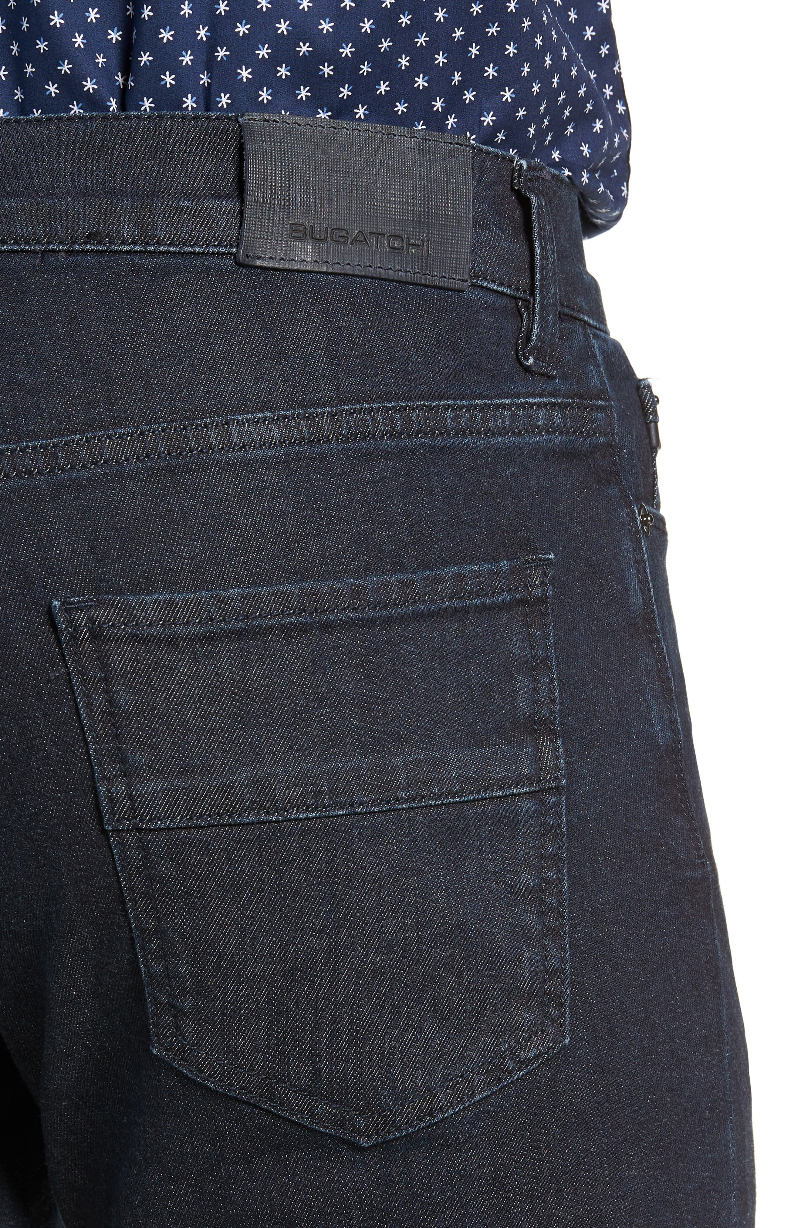 Slim Fit Jeans,                             Alternate thumbnail 4, color,                             SMOKE