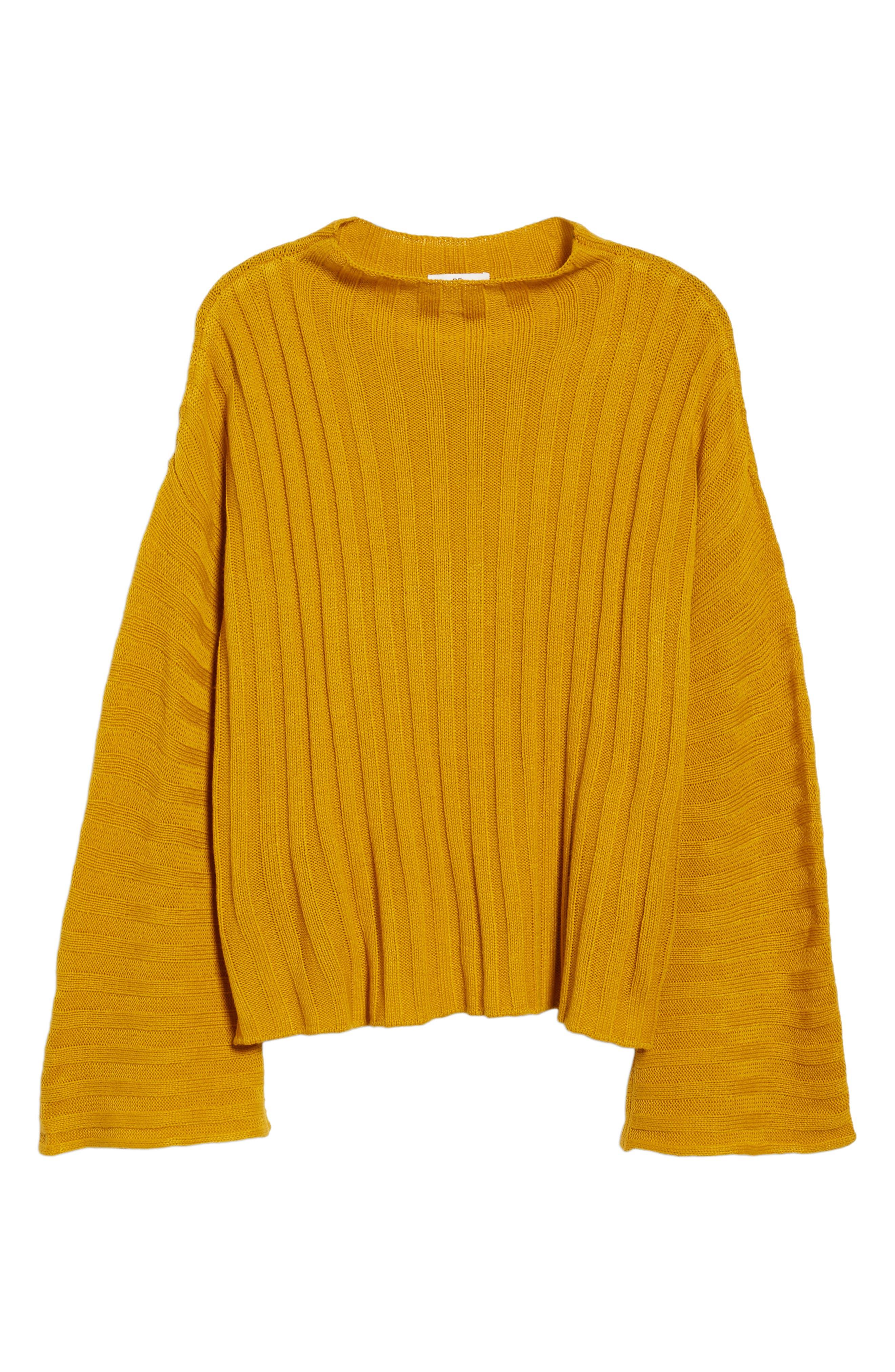 Wide Rib Mock Neck Sweater,                             Alternate thumbnail 6, color,                             315