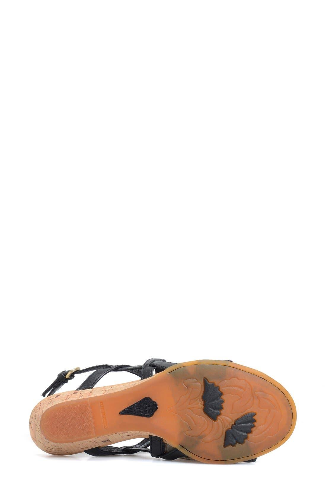 BØRN,                             'Porta' Low Wedge Sandal,                             Alternate thumbnail 2, color,                             001