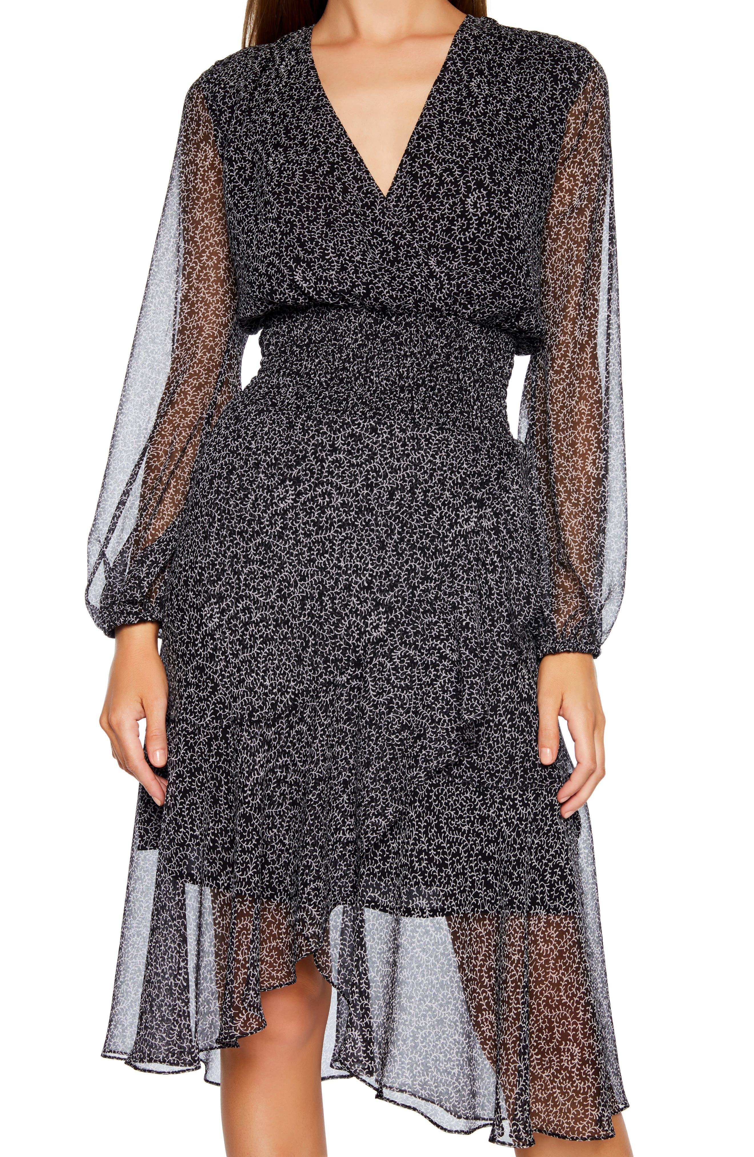 BARDOT,                             Sally Faux Chiffon Wrap Dress,                             Alternate thumbnail 6, color,                             ABSTRACT PAISLEY