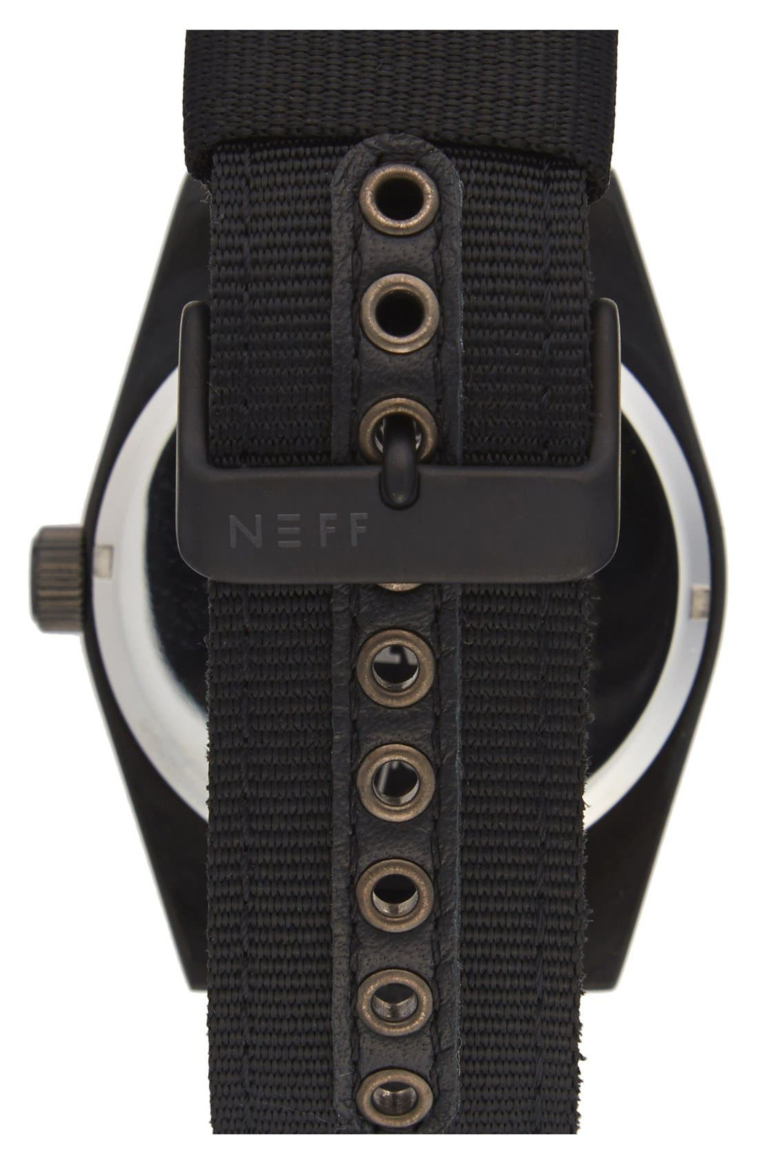 NEFF,                             'Nightly' Round Watch, 42mm,                             Alternate thumbnail 2, color,                             001