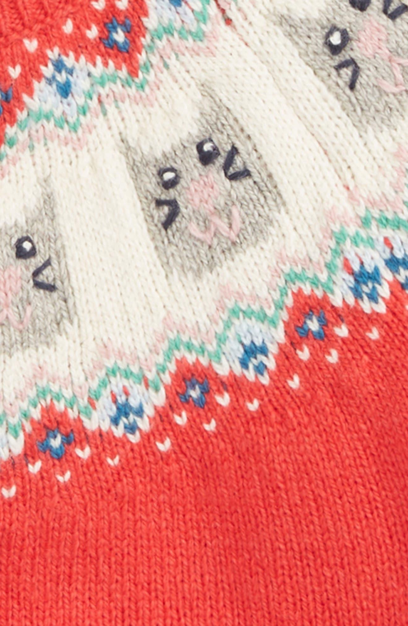 Fair Isle Cardigan,                             Alternate thumbnail 2, color,                             BPK POPPY PINK CAT