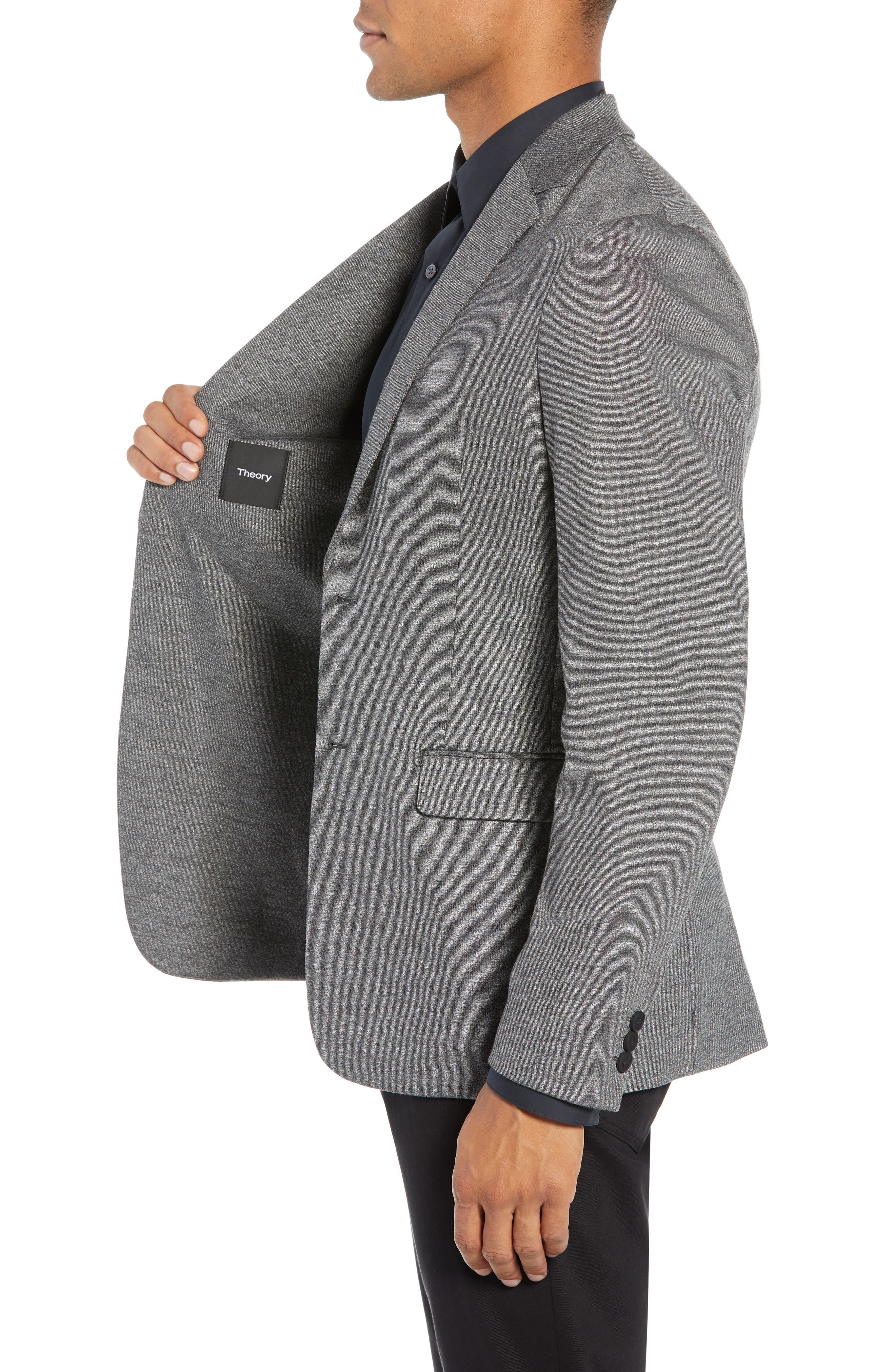 THEORY,                             Clinton Marled Ponte Sport Coat,                             Alternate thumbnail 3, color,                             004