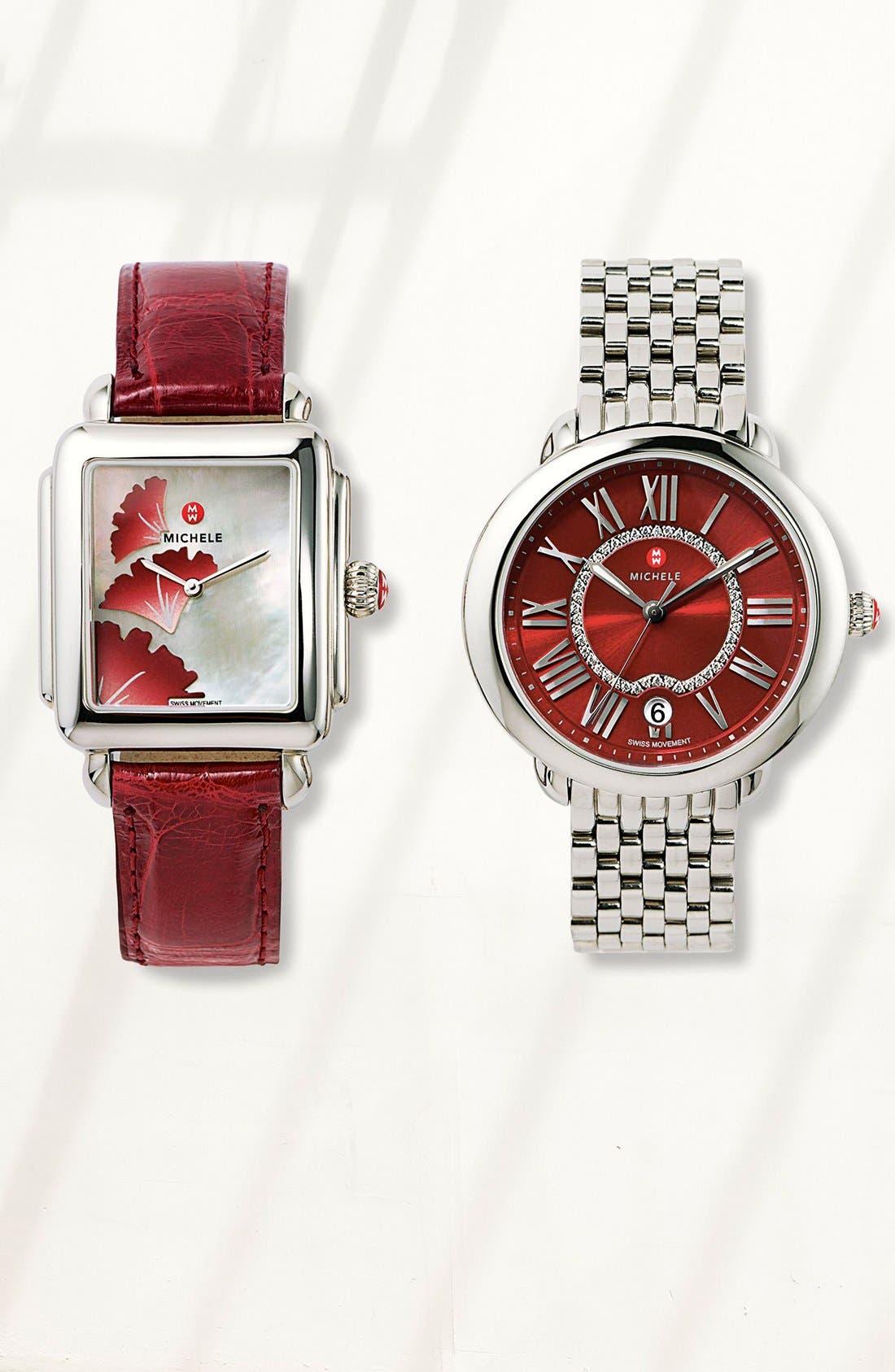 Serein 16 16mm Bracelet Watchband,                             Alternate thumbnail 8, color,                             SILVER