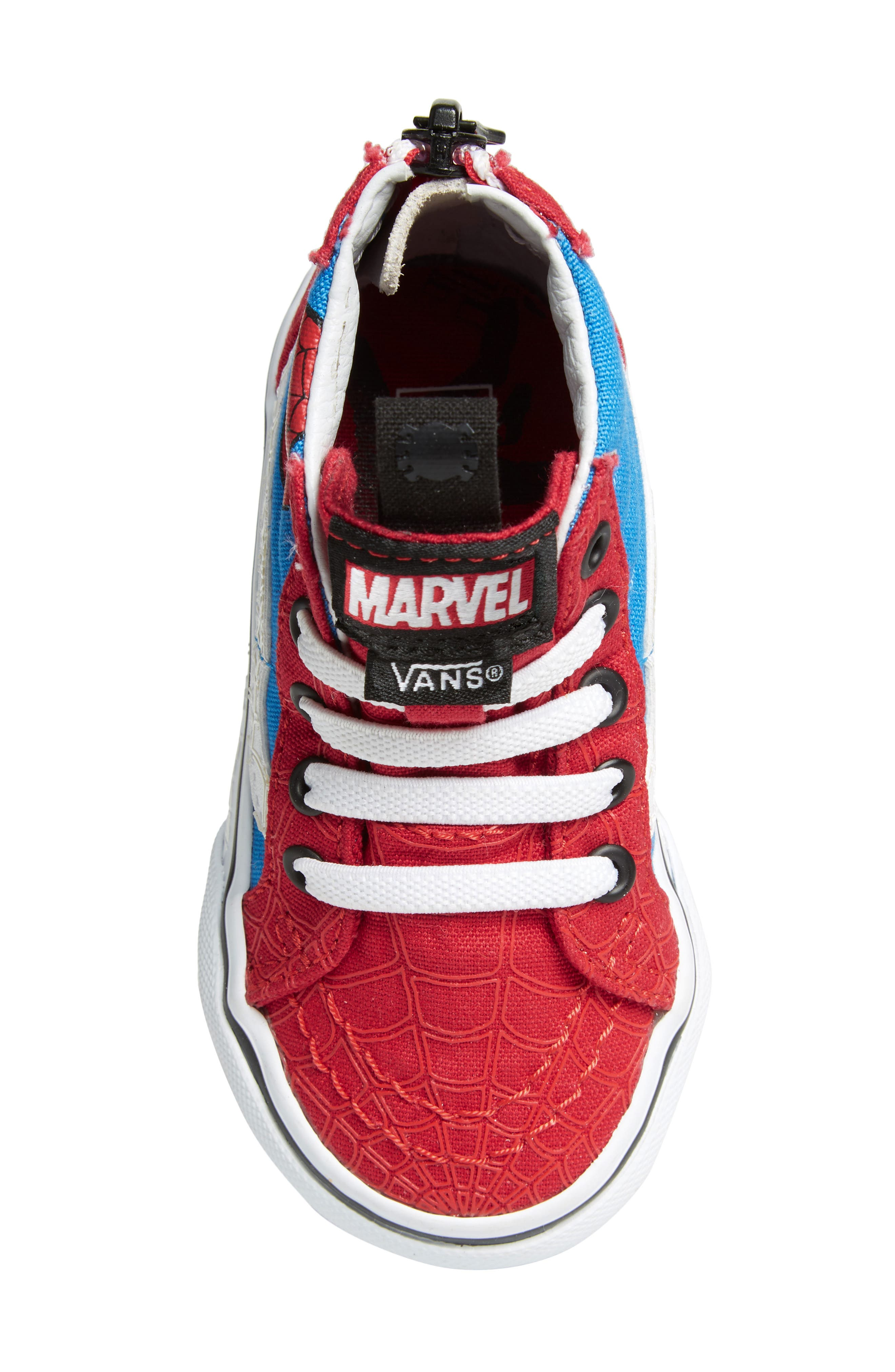 x Marvel<sup>®</sup> Spider-Man SK8-Hi Sneaker,                             Alternate thumbnail 5, color,                             610
