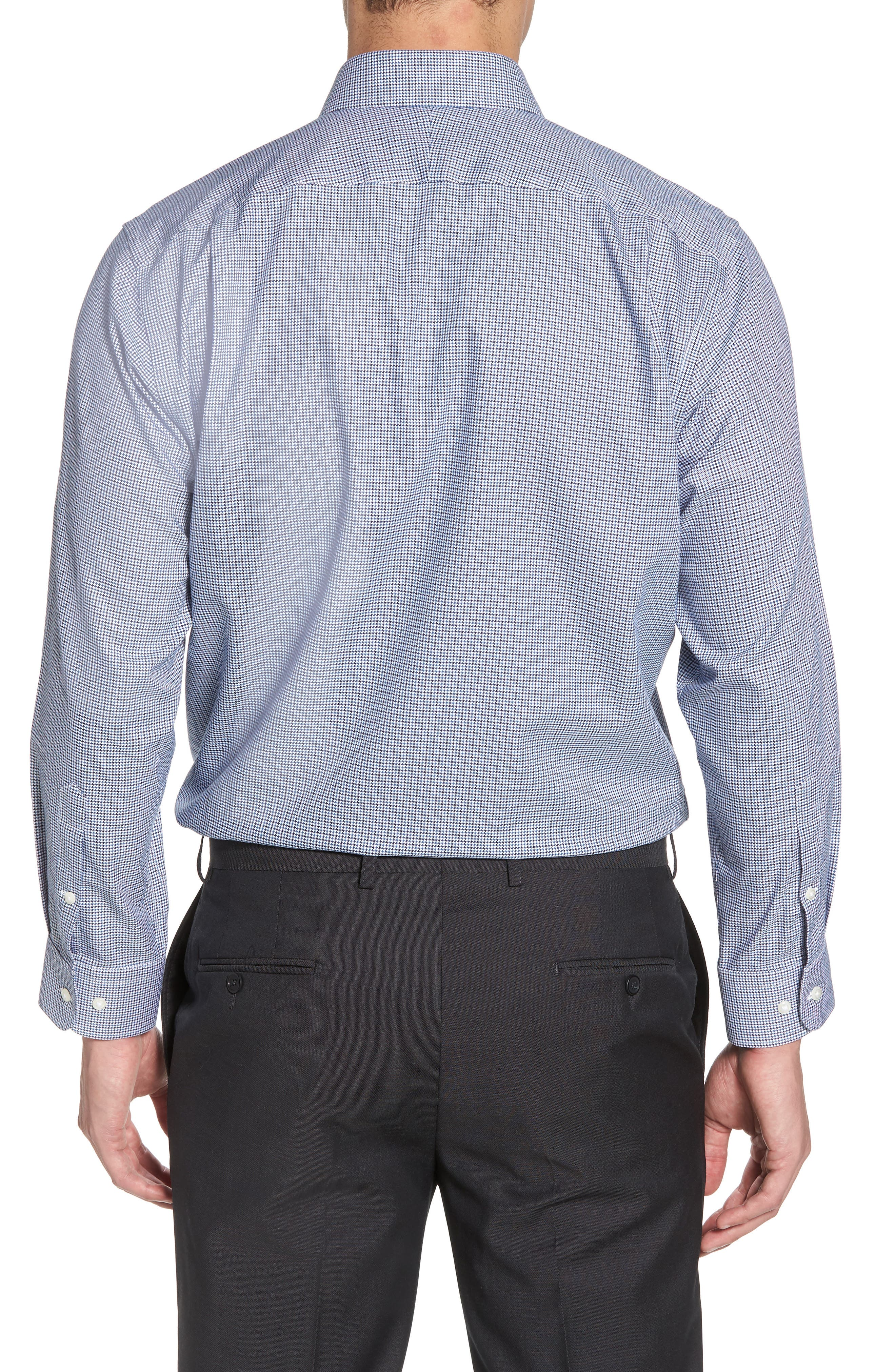 Smartcare<sup>™</sup> Traditional Fit Houndstooth Dress Shirt,                             Alternate thumbnail 3, color,                             410