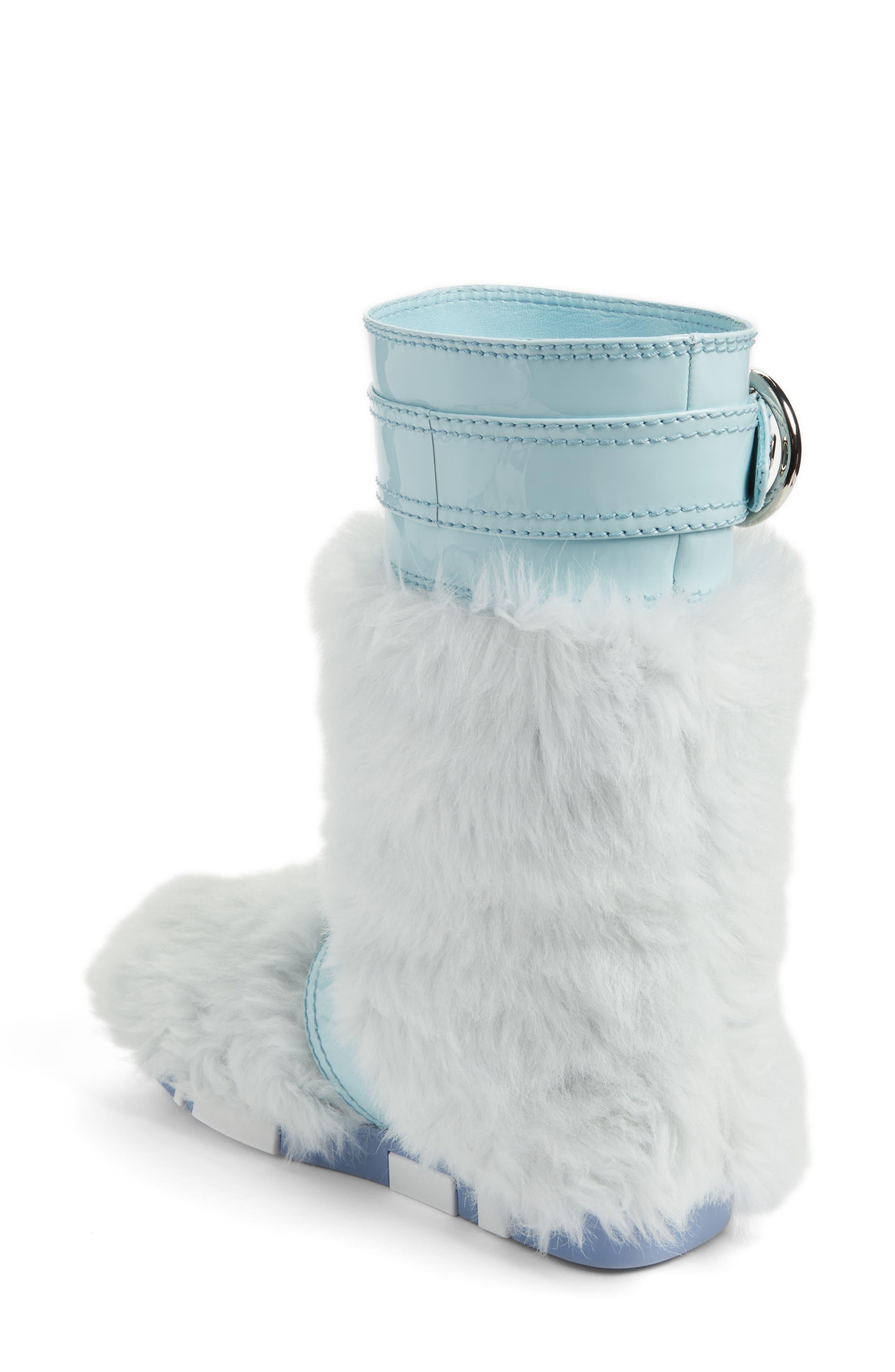 Faux Fur Buckle Boots,                             Alternate thumbnail 2, color,                             453