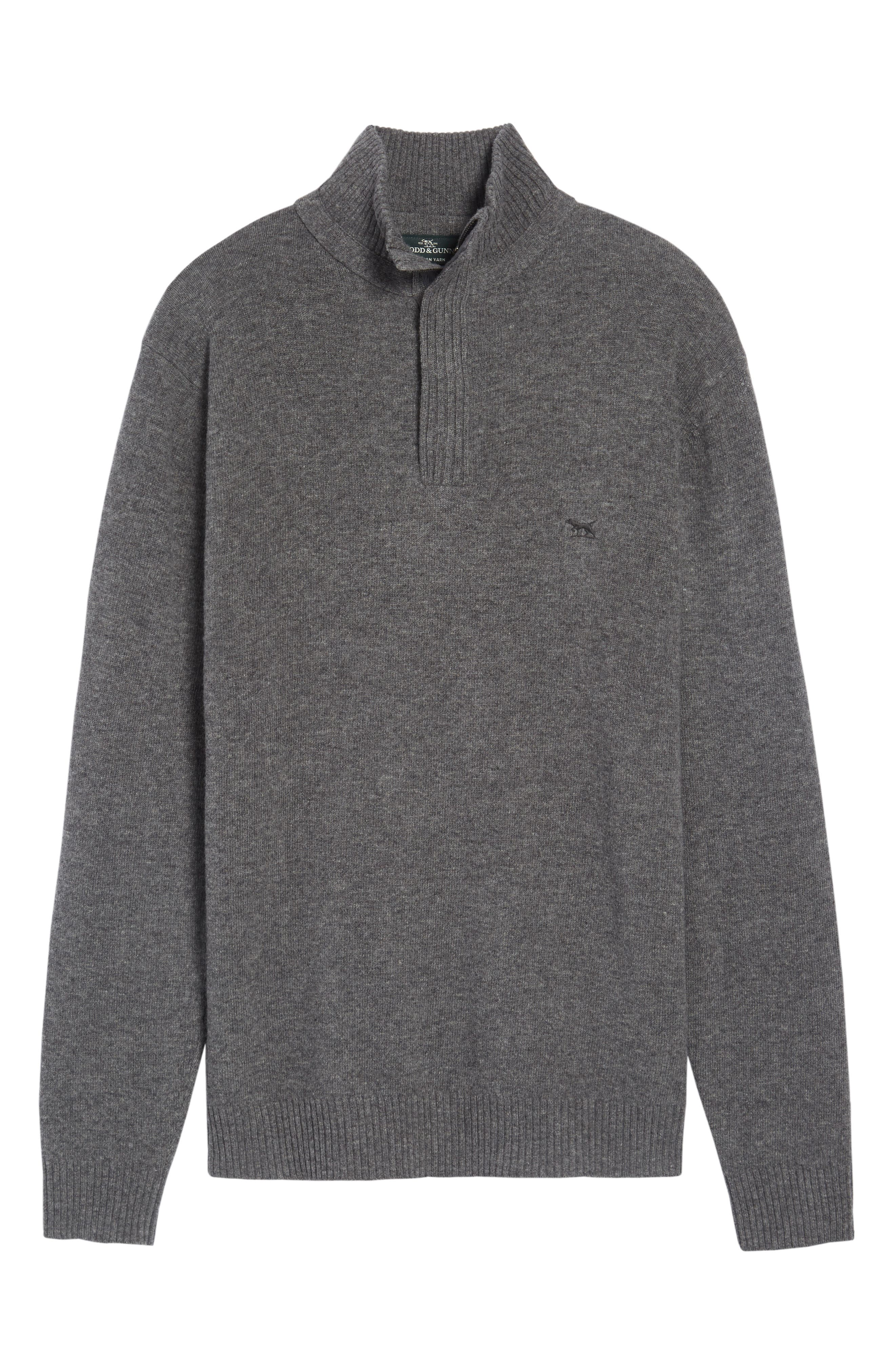 Cape Rodney Lambswool Pullover,                             Alternate thumbnail 6, color,                             CHARCOAL