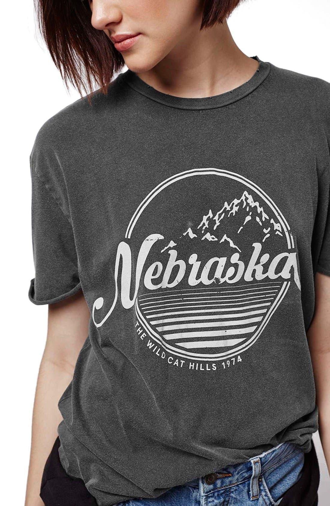 'Nebraska' Graphic Tee,                             Alternate thumbnail 2, color,                             020